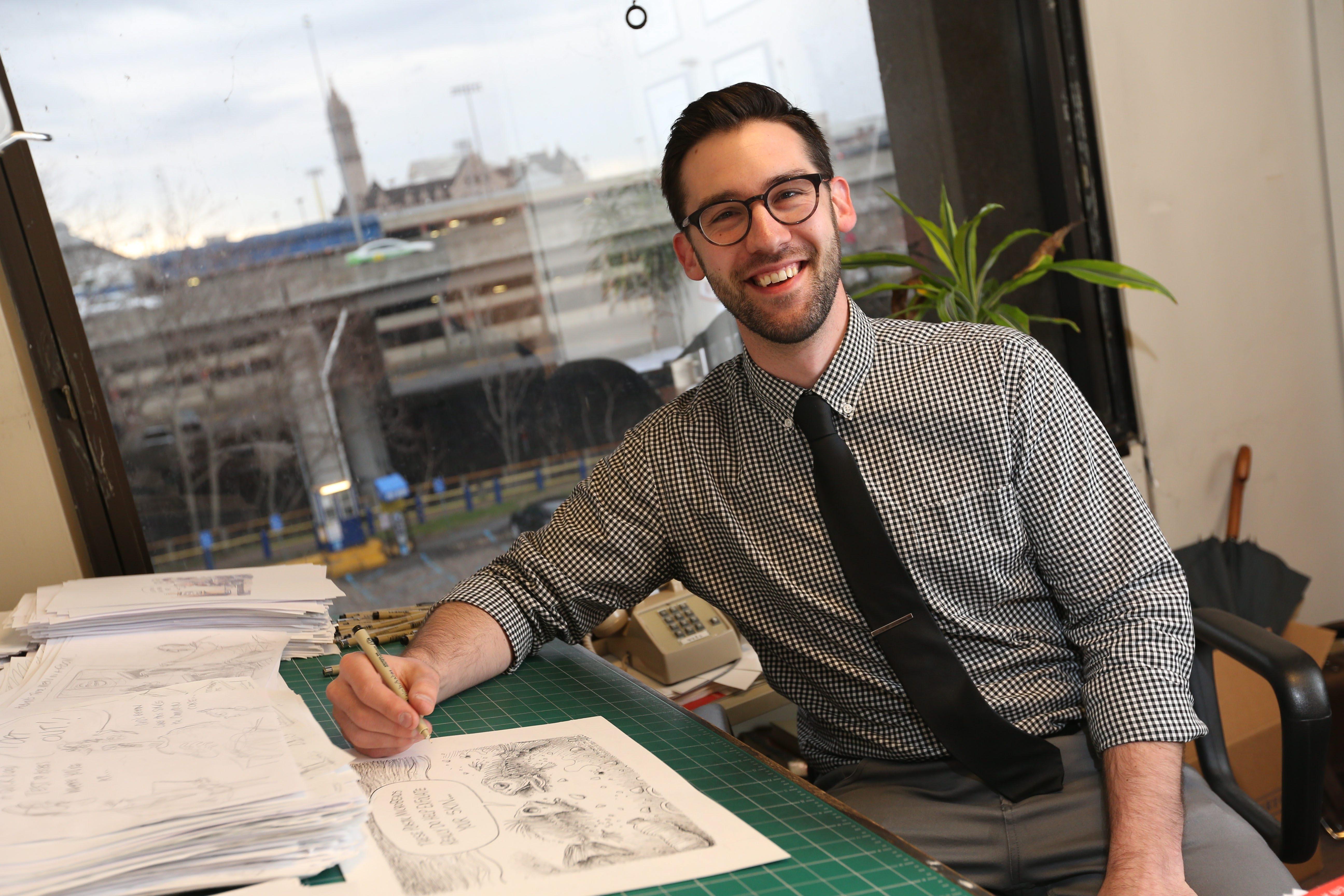 Buffalo News cartoonist Adam Zyglis won the Pulitzer Prize on Monday.