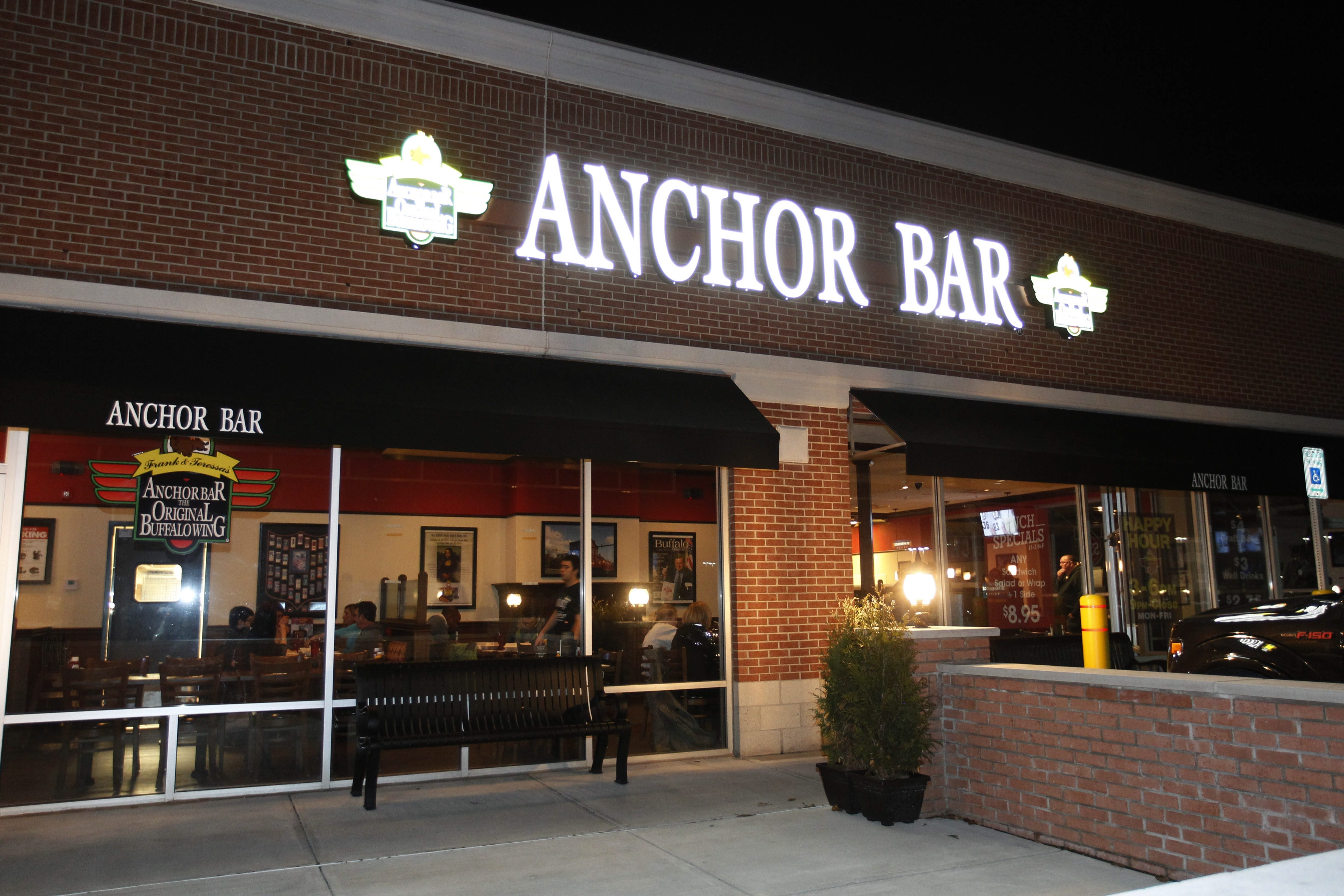 The Anchor Bar on Transit Rd. in Amherst opened at the beginning of October.  Photo taken, Thursday, Dec. 4, 2014.  (Sharon Cantillon/Buffalo News)
