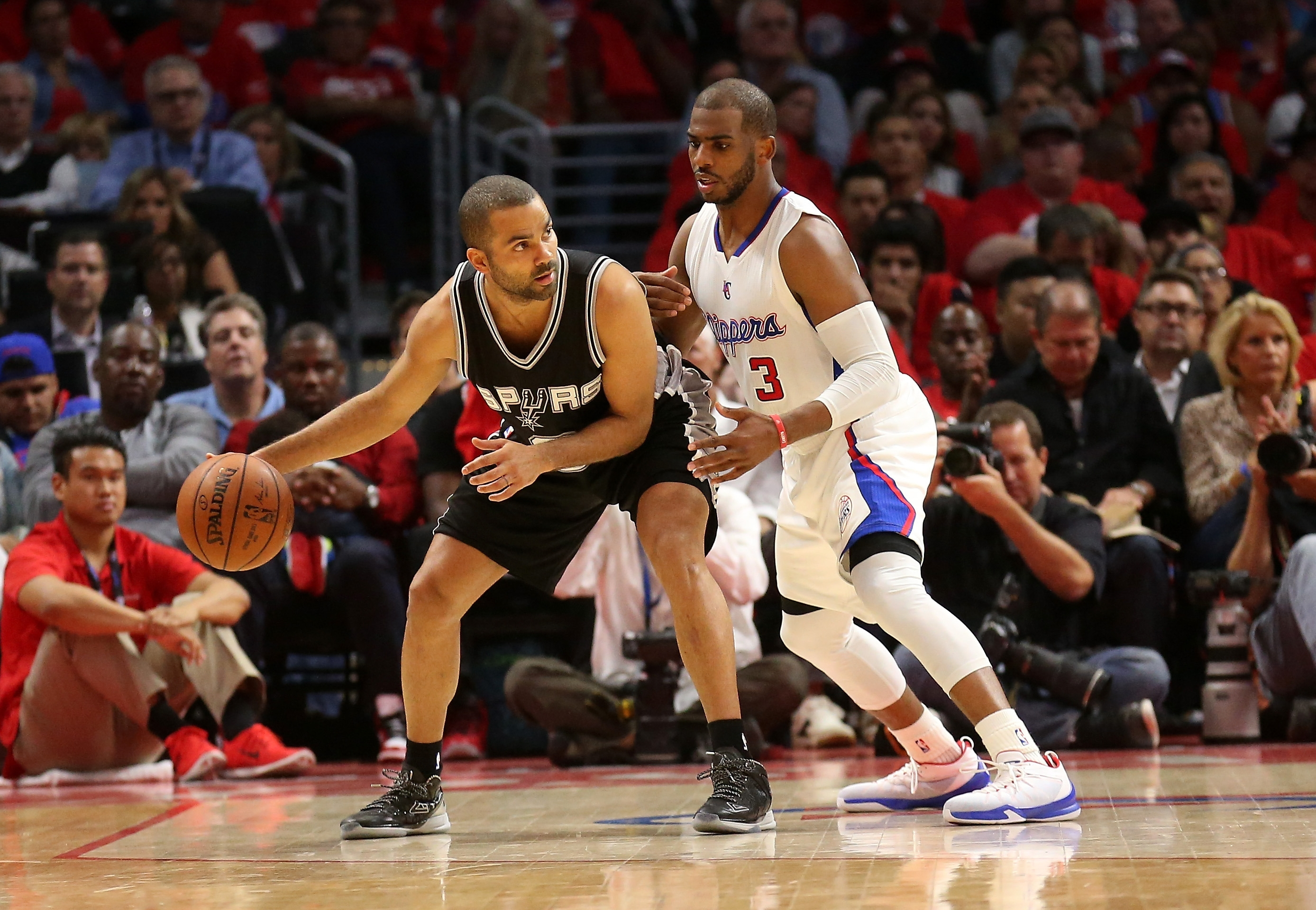 A healthy Tony Parker, dribbling against the Clippers' Chris Paul, is needed for the Spurs to make a deep playoff run.