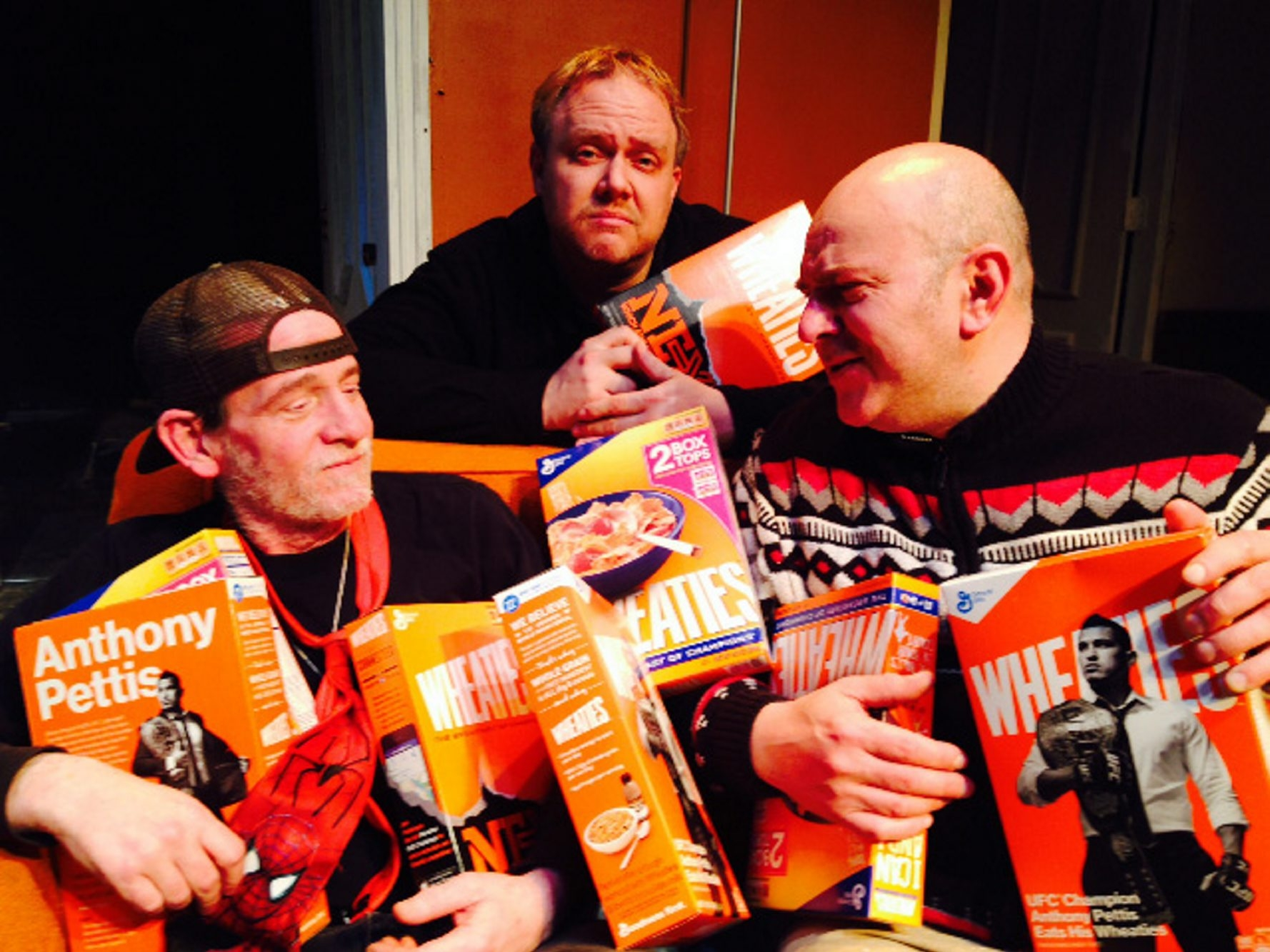 """From left, Jesse Swartz, Paul McGinnis and Carl Tamburlin star in the Starry Night Theatre troupe's production of """"The Boys Next Door,"""" which runs May 7 to 24 at Ghostlight Theatre in North Tonawanda."""
