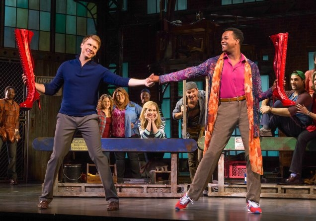 "Steven Booth and J. Ghee star in the touring production of ""Kinky Boots"" opening Tuesday in Shea's Performing Arts Center."