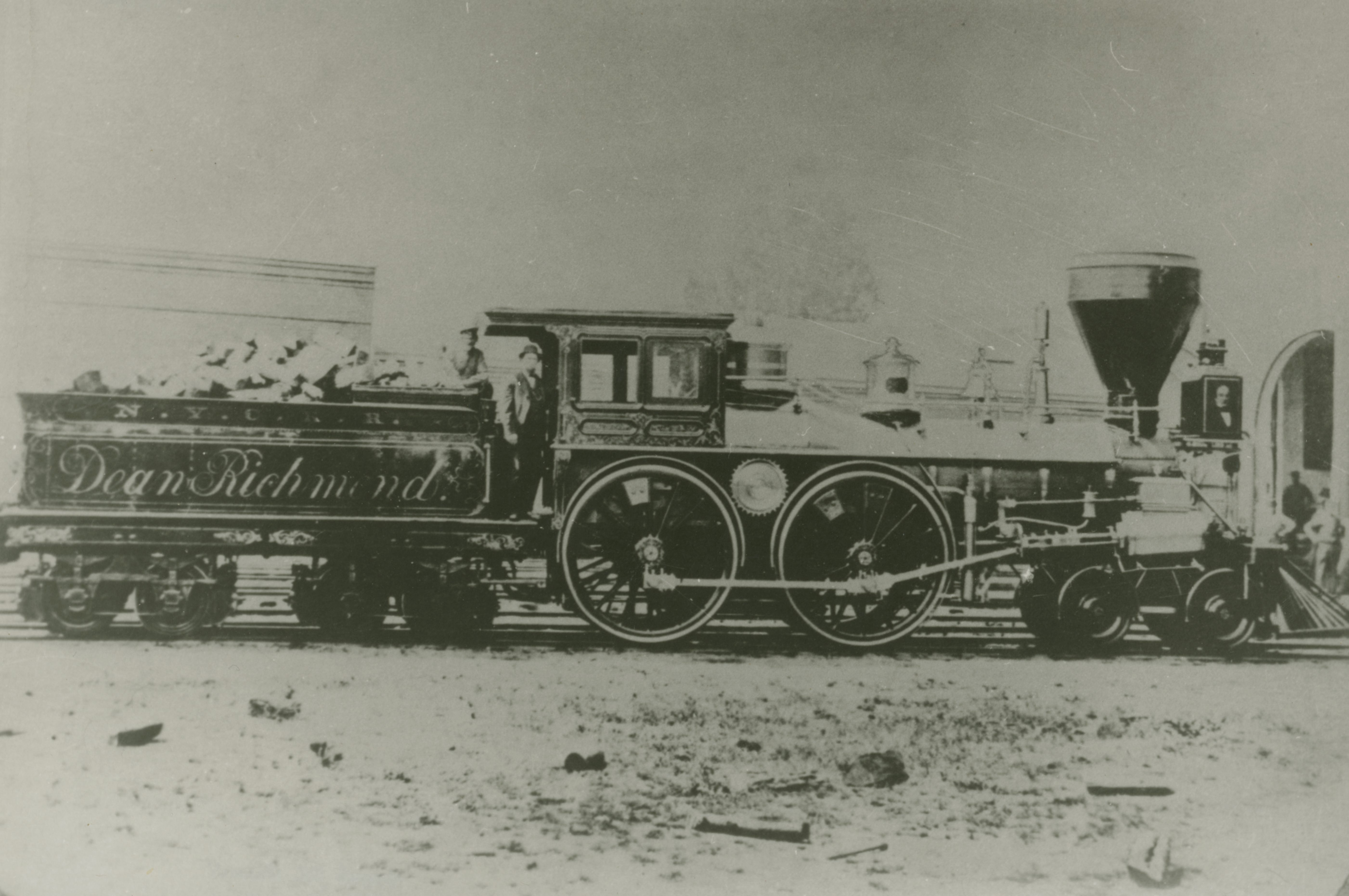 "This was the locomotive that pulled the ""Lincoln Special"", the Presidents remains & and an Honor Escort including former President Millard Fillmore to Buffalo from Batavia in the early hours of April 27th 1865. Please credit: Courtesy of the Buffalo History Museum, used by Permission."