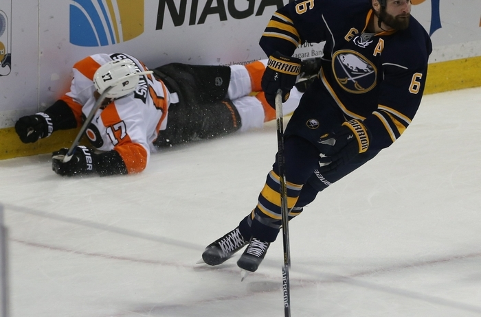 Sabres defenseman Mike Weber has dedicated his life to making the NHL and earned the nomination for the Bill Masterton trophy by being a veteran leader on a young team in need of them. The award given to the player who best exemplifies the qualities of perseverance, sportsmanship and dedication to hockey. (James P. McCoy/Buffalo News file photo)