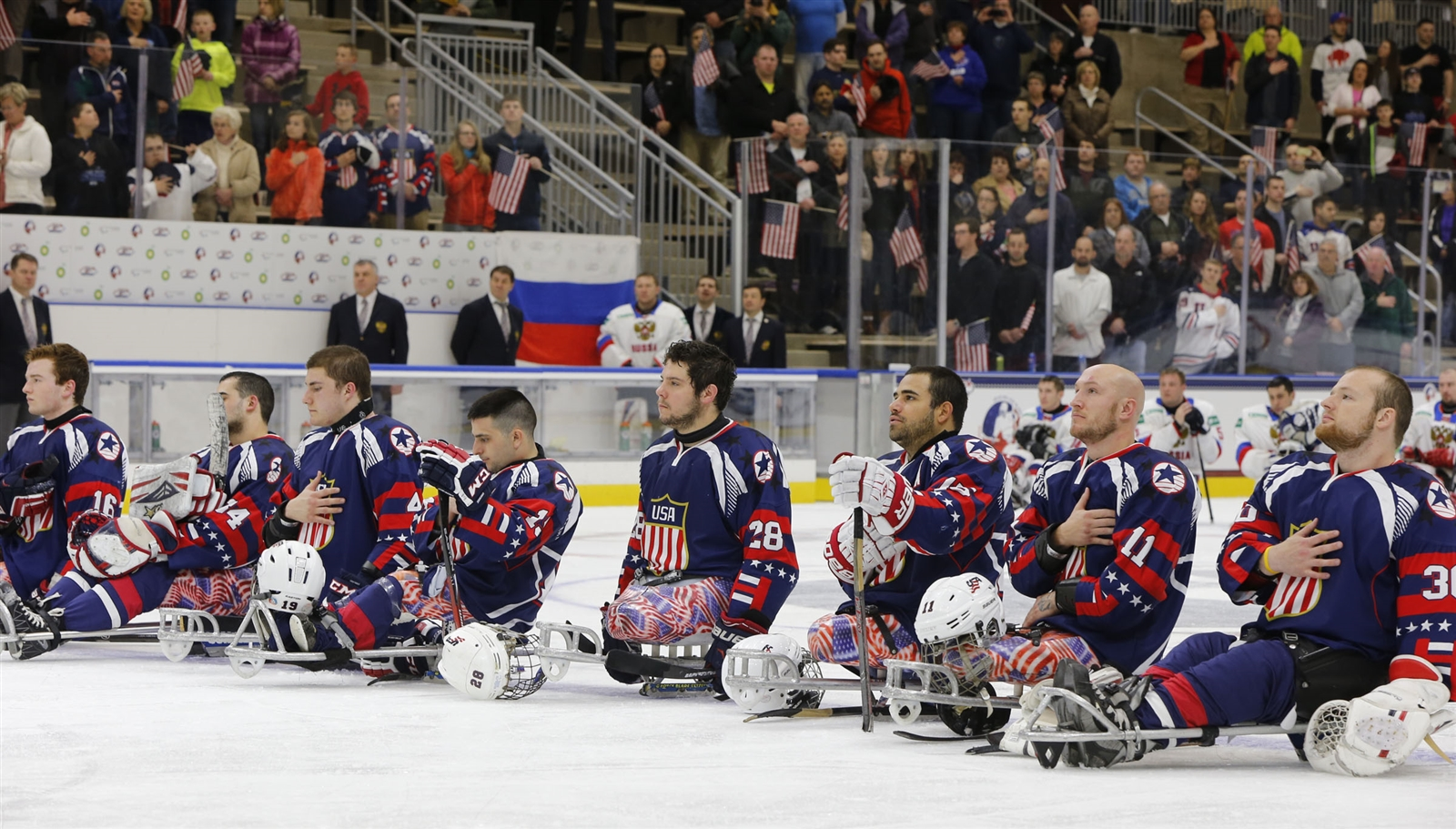 The U.S. Men's National Sled Hockey team will play a Border Series with Canada in Buffalo. (Harry Scull Jr./Buffalo News)