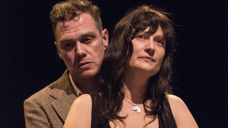 Chris Kelly and Kristin Tripp Kelley appear in the Irish Classical Theatre Company's production of 'The Beauty Queen of Leenane.'