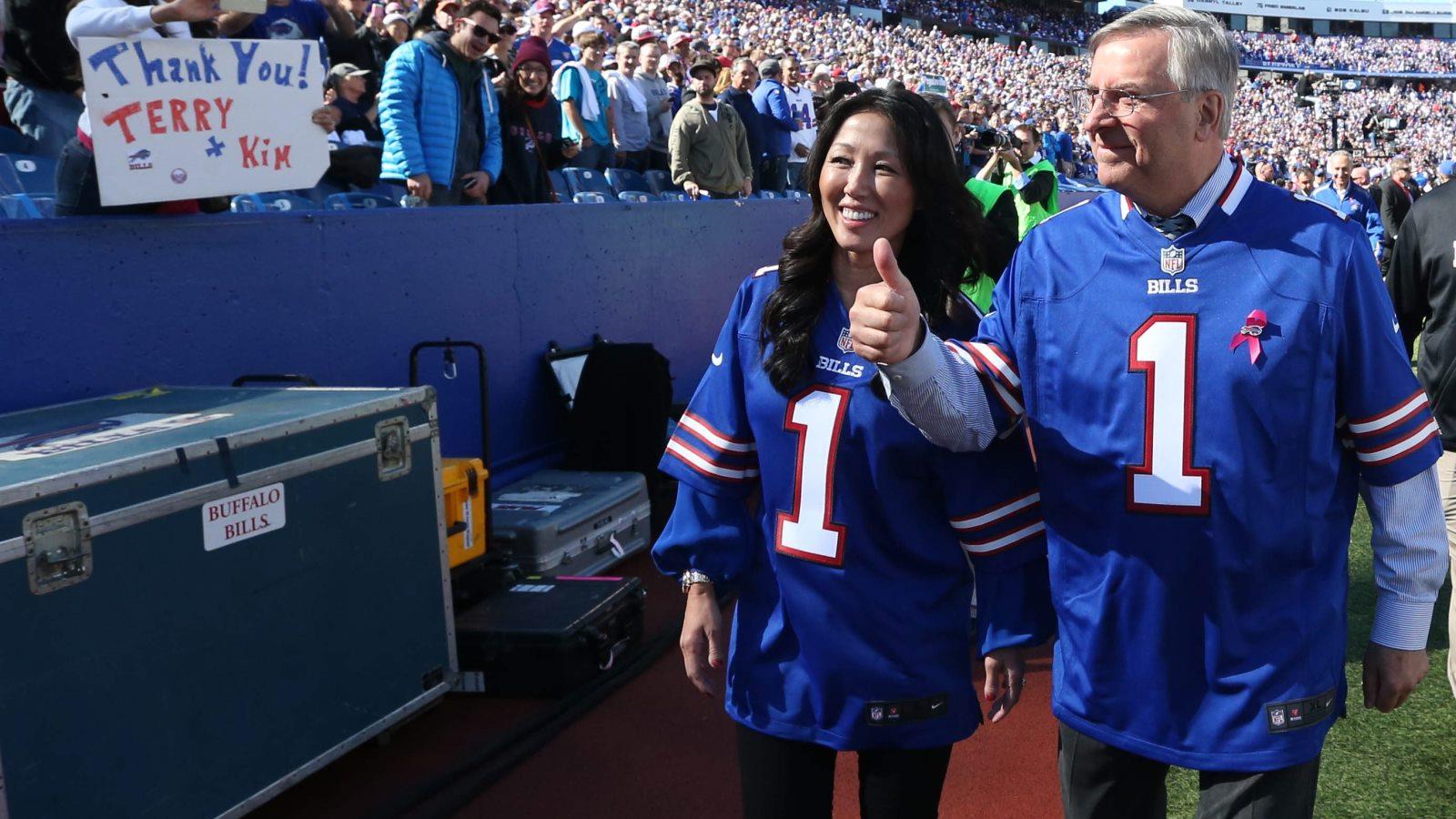 Bills owners Kim and Terry Pegula. (James P. McCoy/Buffalo News)