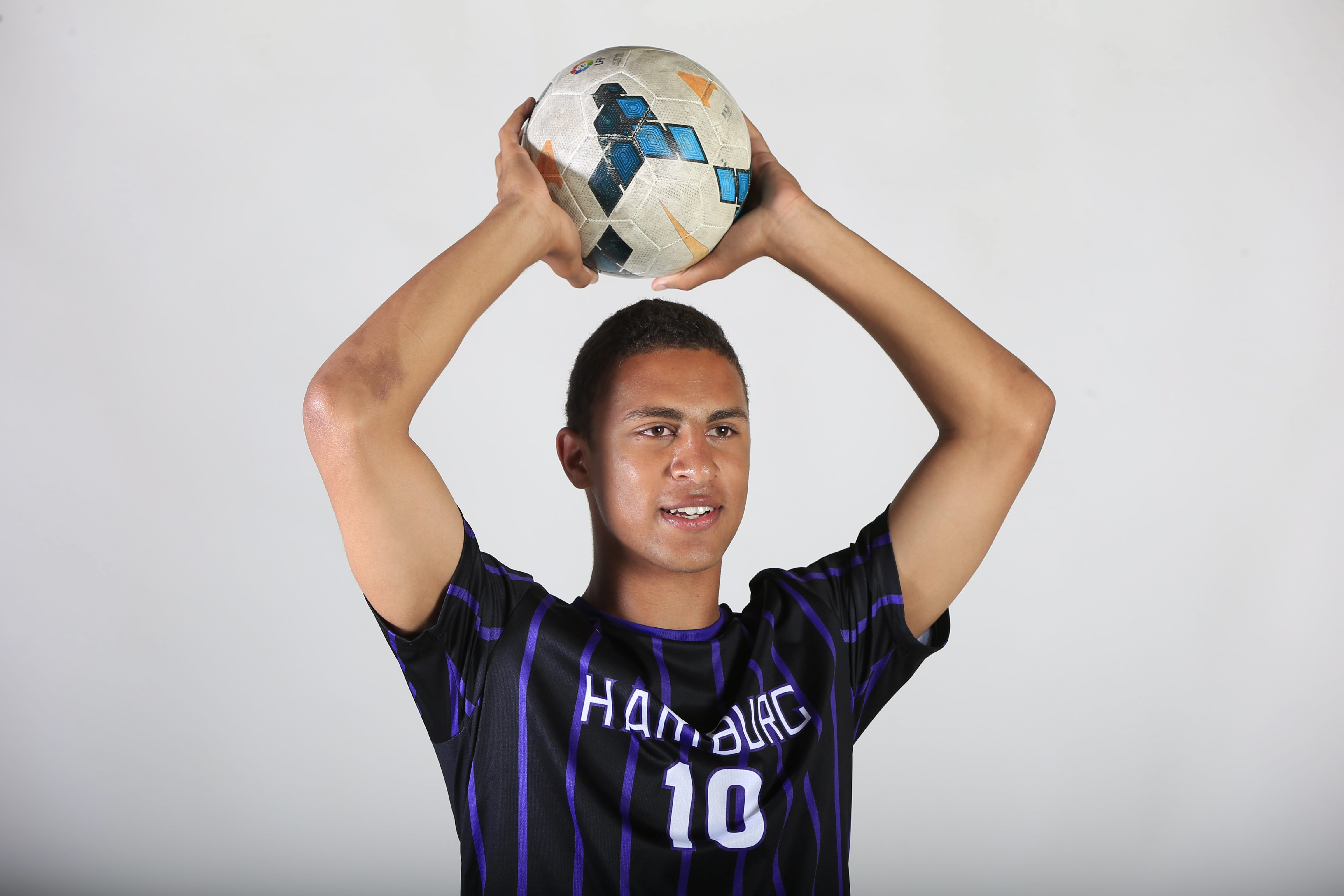Prep Talk Player of the Year for boys soccer:   Shane Greene of Hamburg. (Harry Scull Jr./Buffalo News)