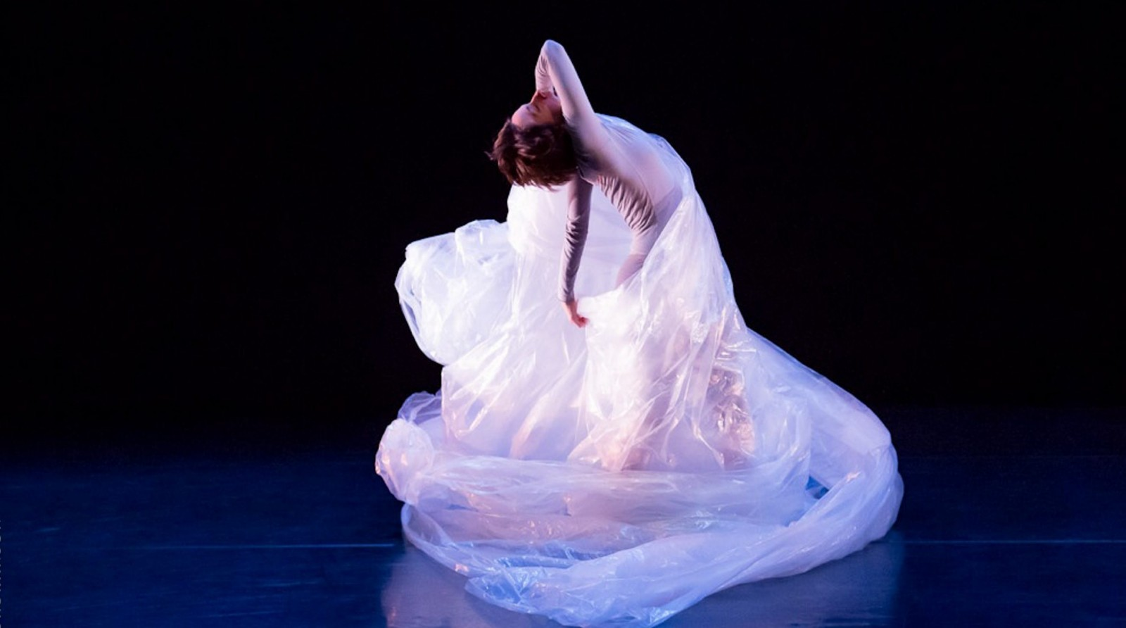 Dancer Melanie Aceto, shown in a previous performance, will be featured in a tribute to Robert Creeley.