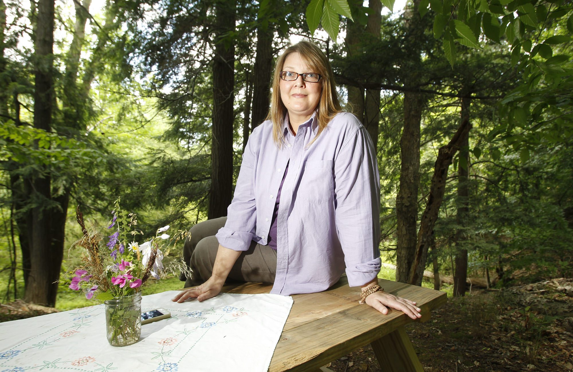 Artist Kateri Ewing focuses on nature in her work. (Harry Scull Jr. / News file photo)