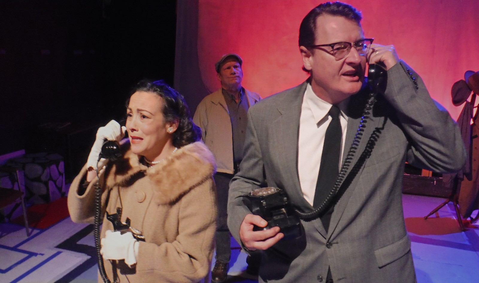 Lisa Vitrano, Richard Lambert and Guy Wagner are superb in 'The Un-American' at Subversive Theatre.
