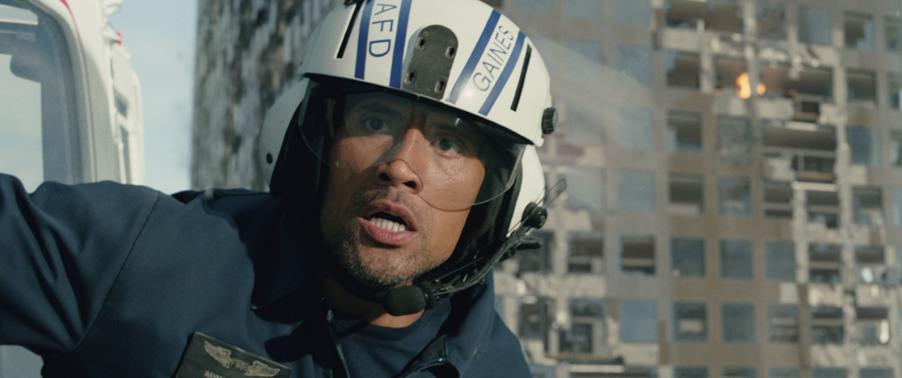 "Dwayne Johnson as Ray in the action thriller ""San Andreas,"" a prouction of New Line Cinema and Village Roadshow Pictures, released by Warner Bros. Pictures. (Jasin Boland/Warner Bros.)"