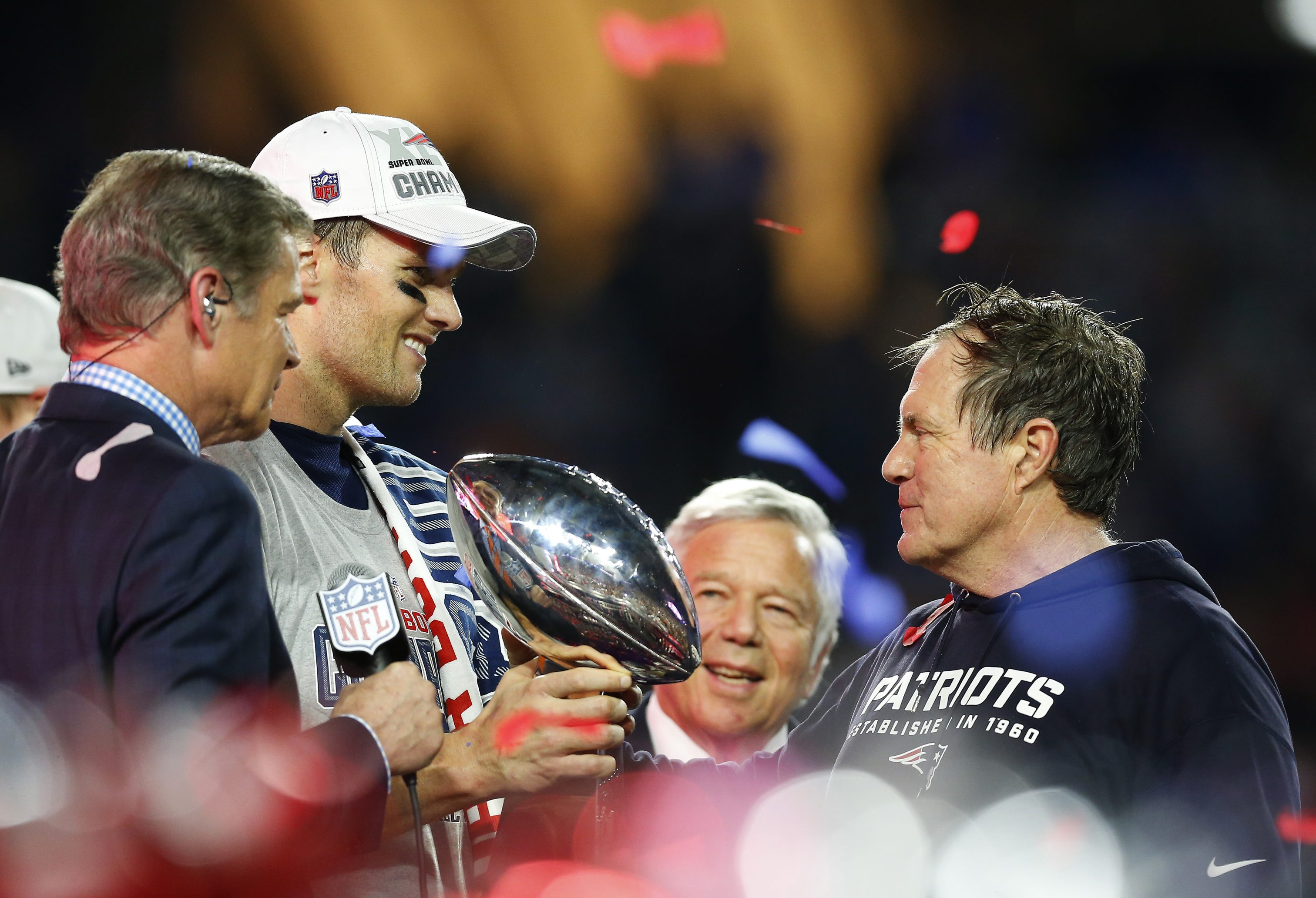 Tom Brady, Patriots owner Robert Kraft and coach Bill Belichick have the Lombardi Trophy, but at what price to their reputations?
