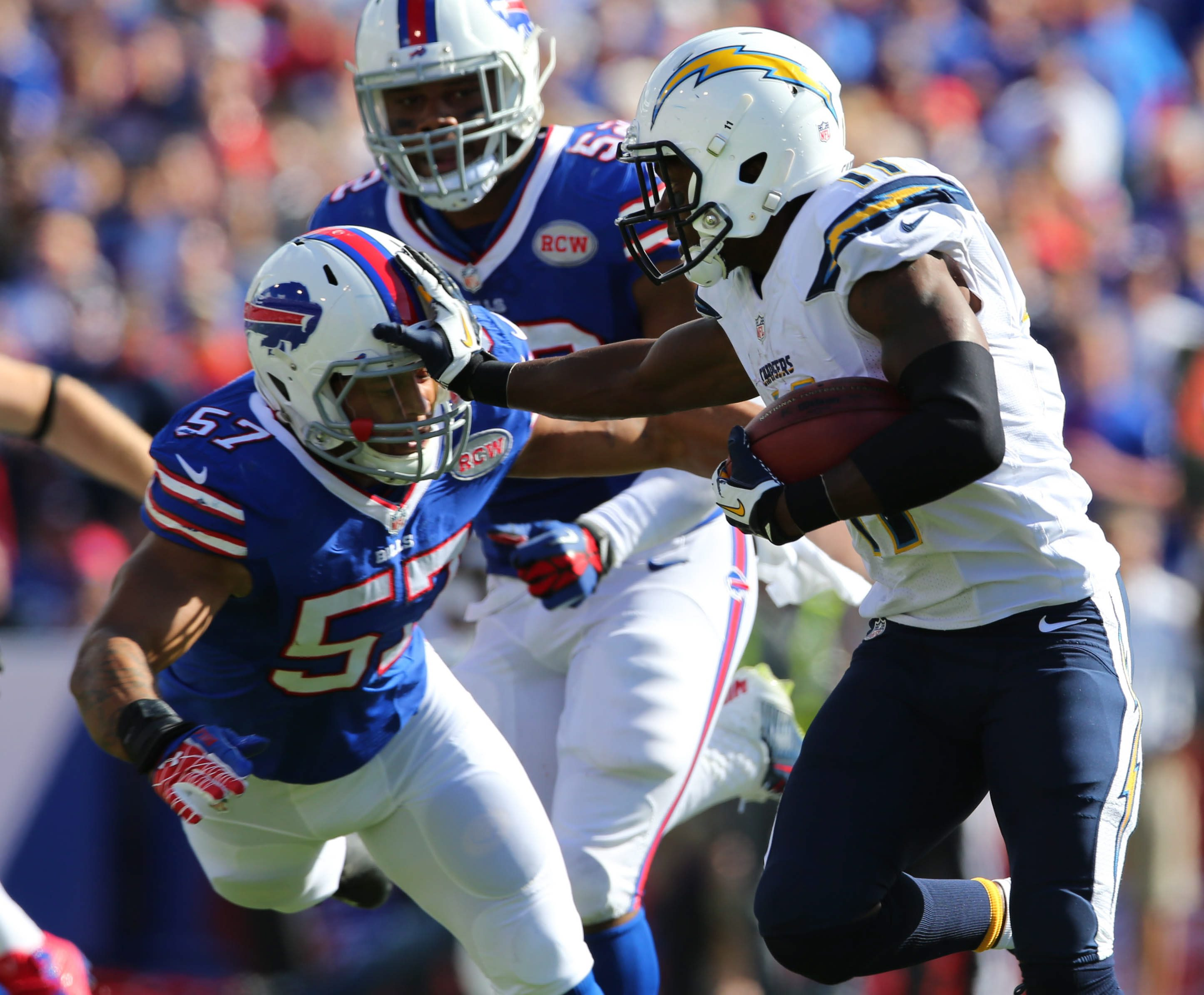 Mark Mulville/Buffalo News file photo  Bills linebacker Ty Powell has impressed new coach Rex Ryan with his intelligence and commitment.