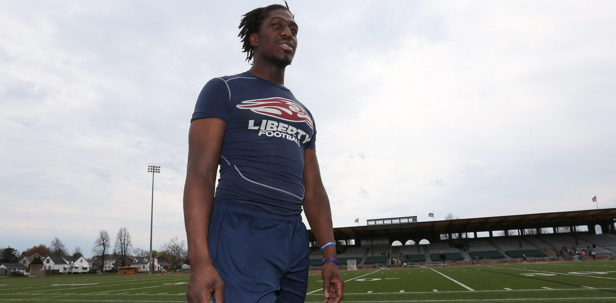 2008 Lafayette High School graduate Dominique Davis found his football talents at Liberty University. (James P. McCoy/Buffalo News)