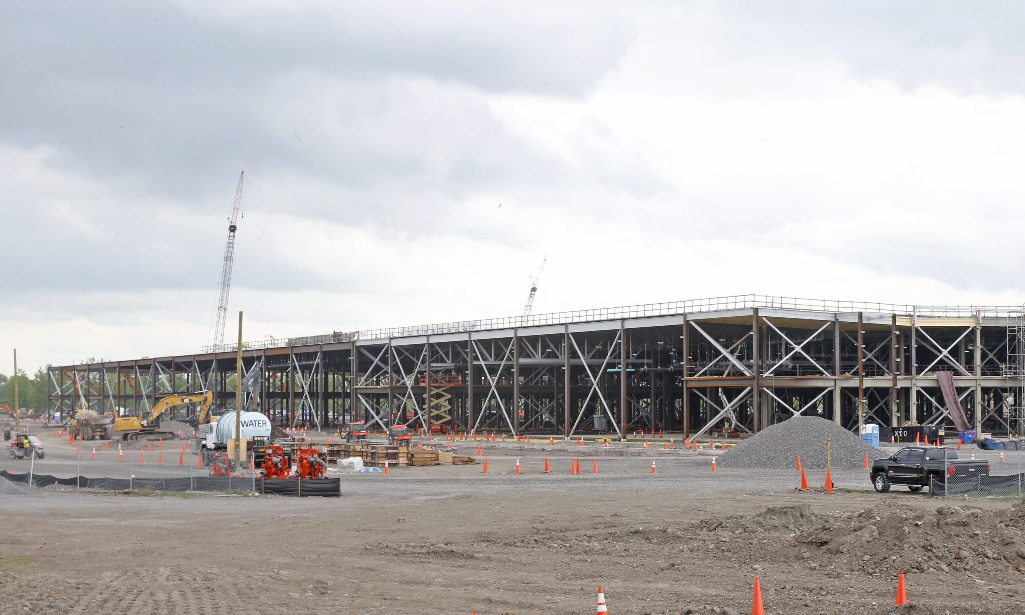 Progress continues on the SolarCity project on South Park Avenue on May 26, 2015.