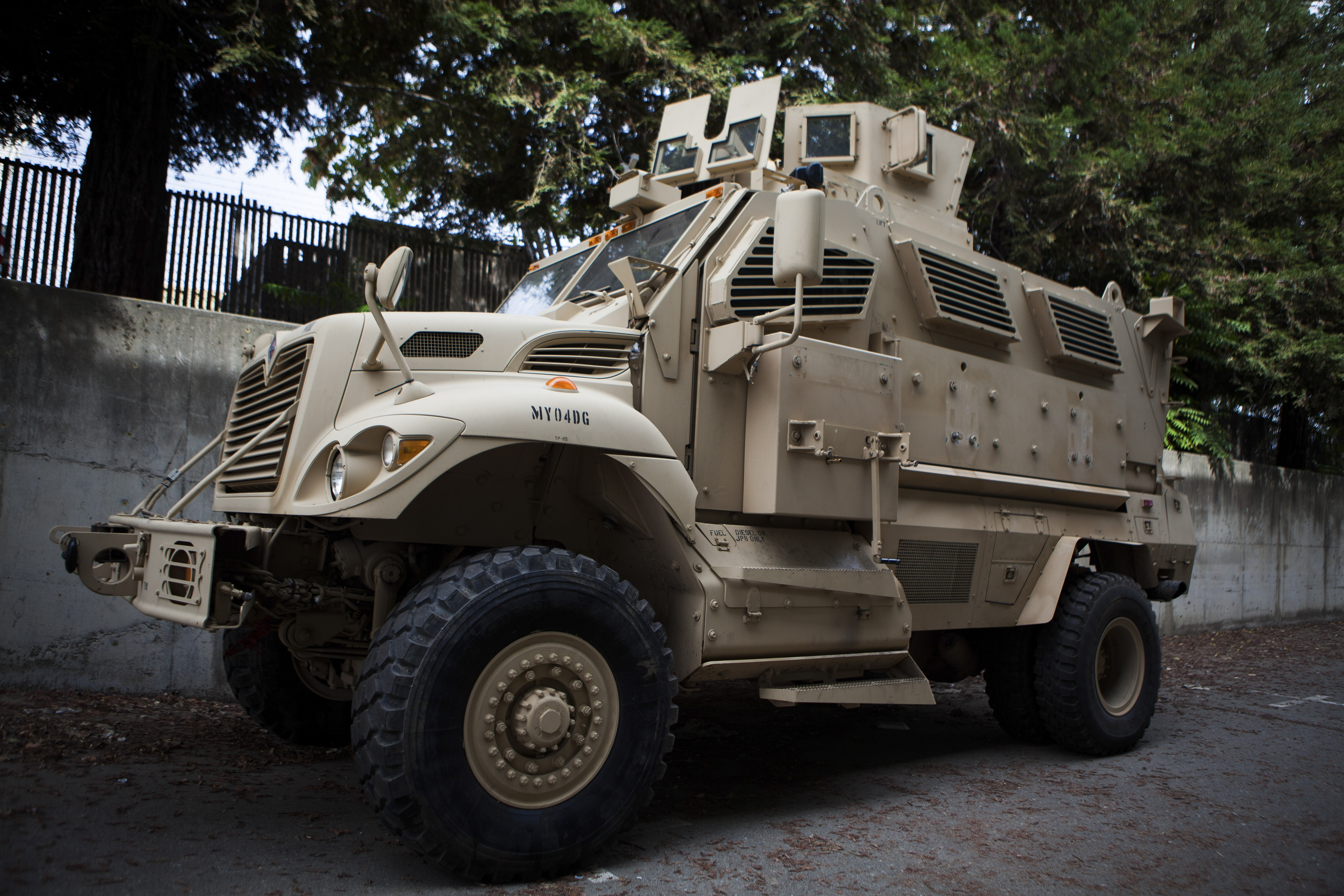 The Davis City Council decided this armored vehicle was inappropriate for policing in the California city and voted last year to return it to the military. (New York Times)