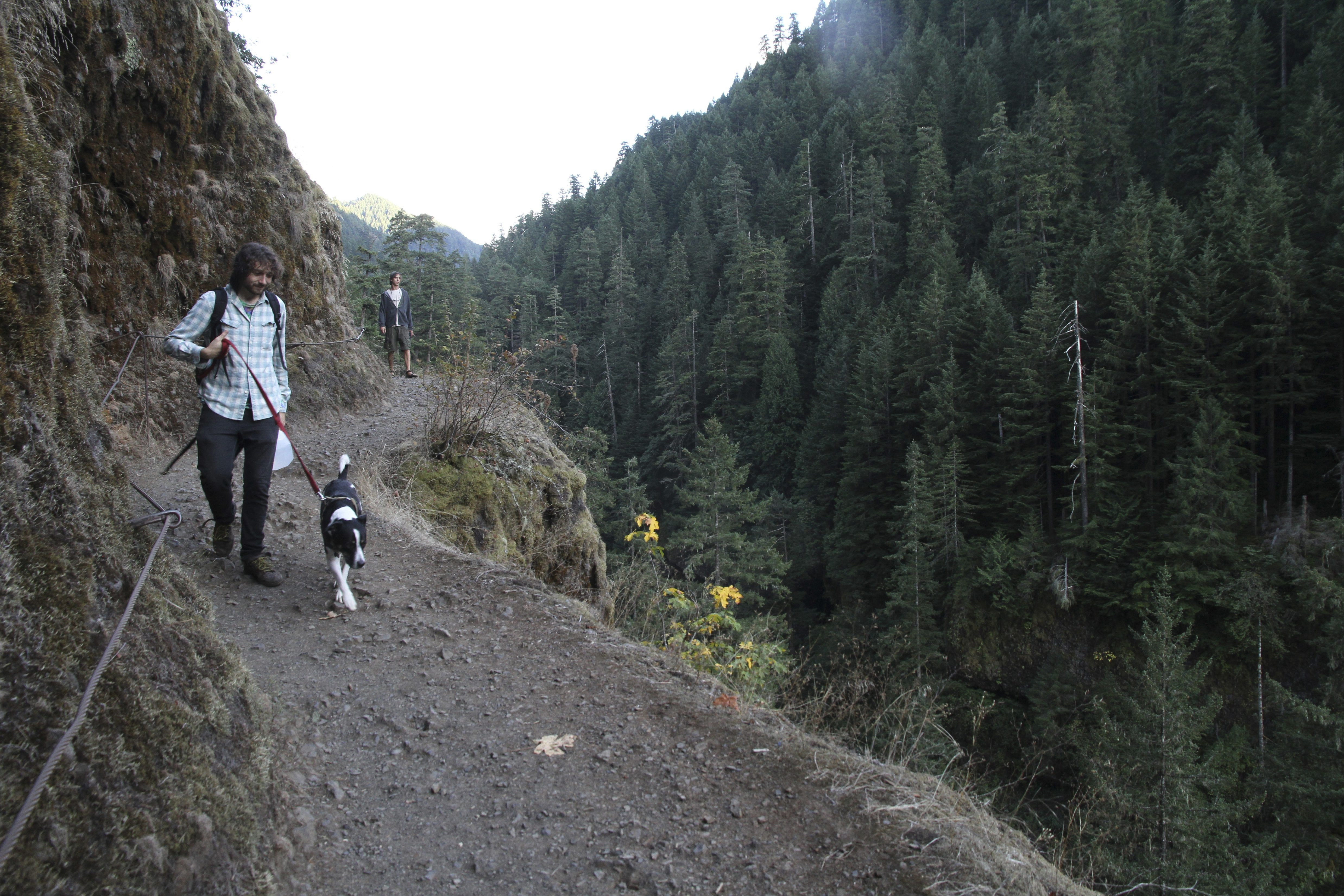 Hikers traversing Eagle Creek Trail in Mount Hood National Forest east of Portland, Ore., are treated to spectacular scenery.