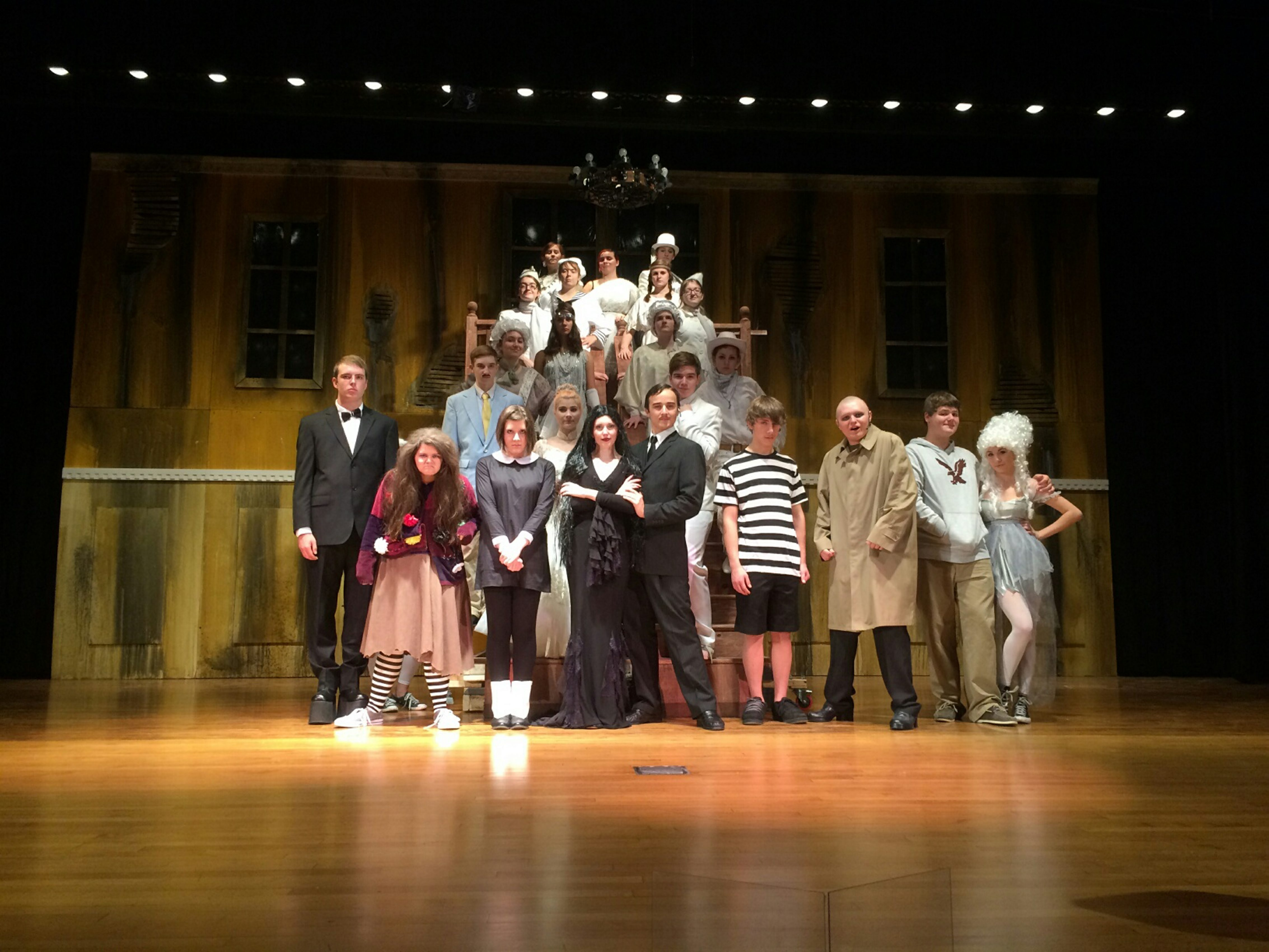 "Students from Tonawanda High School won several Kenny Awards for their production of  ""The Addams Family."""