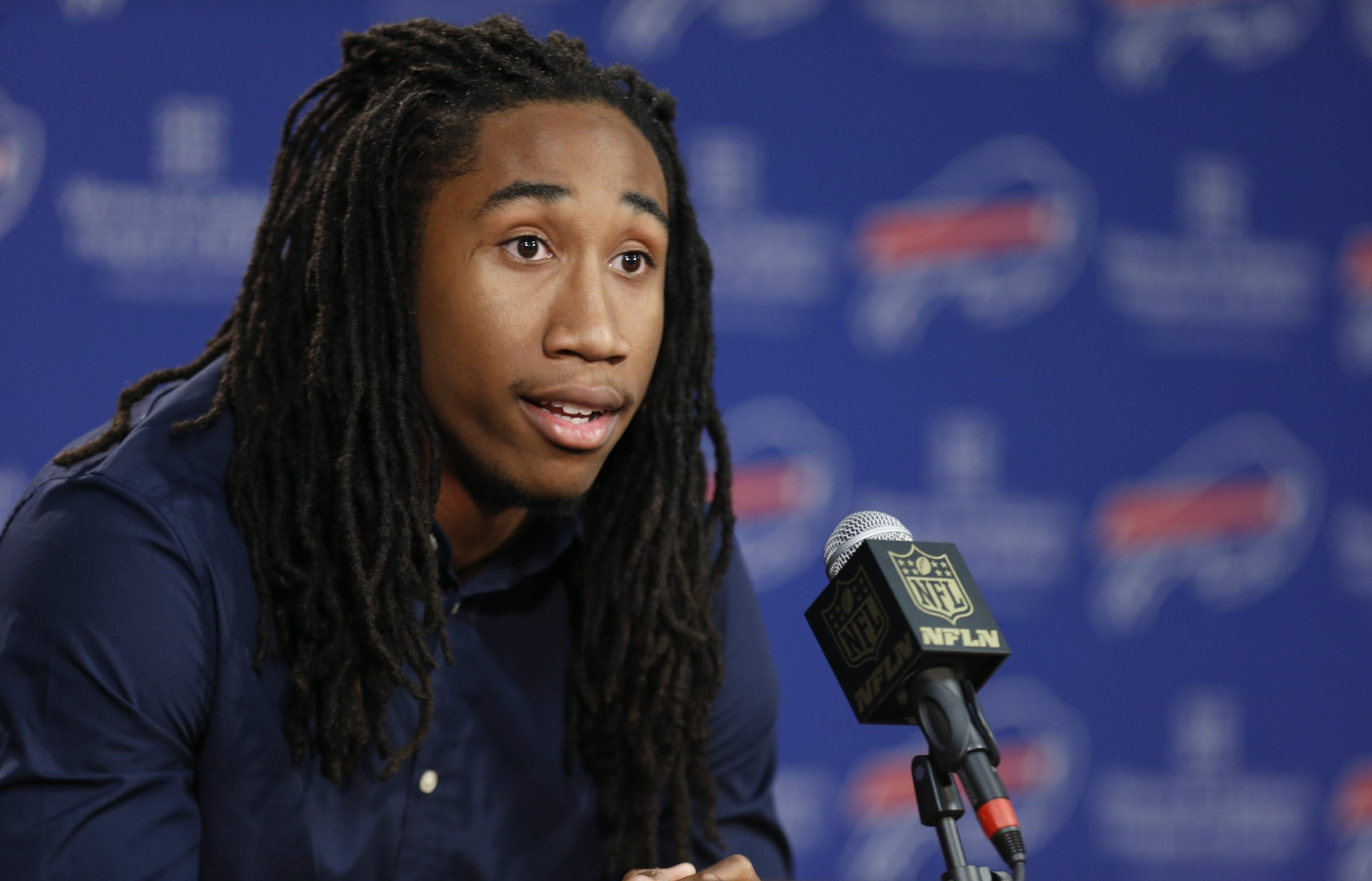 Ronald Darby,  the Buffalo Bills 2nd round pick from Flodira State is introduced to the media on Saturday, May 2, 2015.(Harry Scull Jr./Buffalo News)