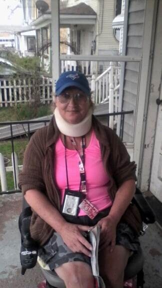 Dusty Wells, in her motorized chair, was fatally struck by car.