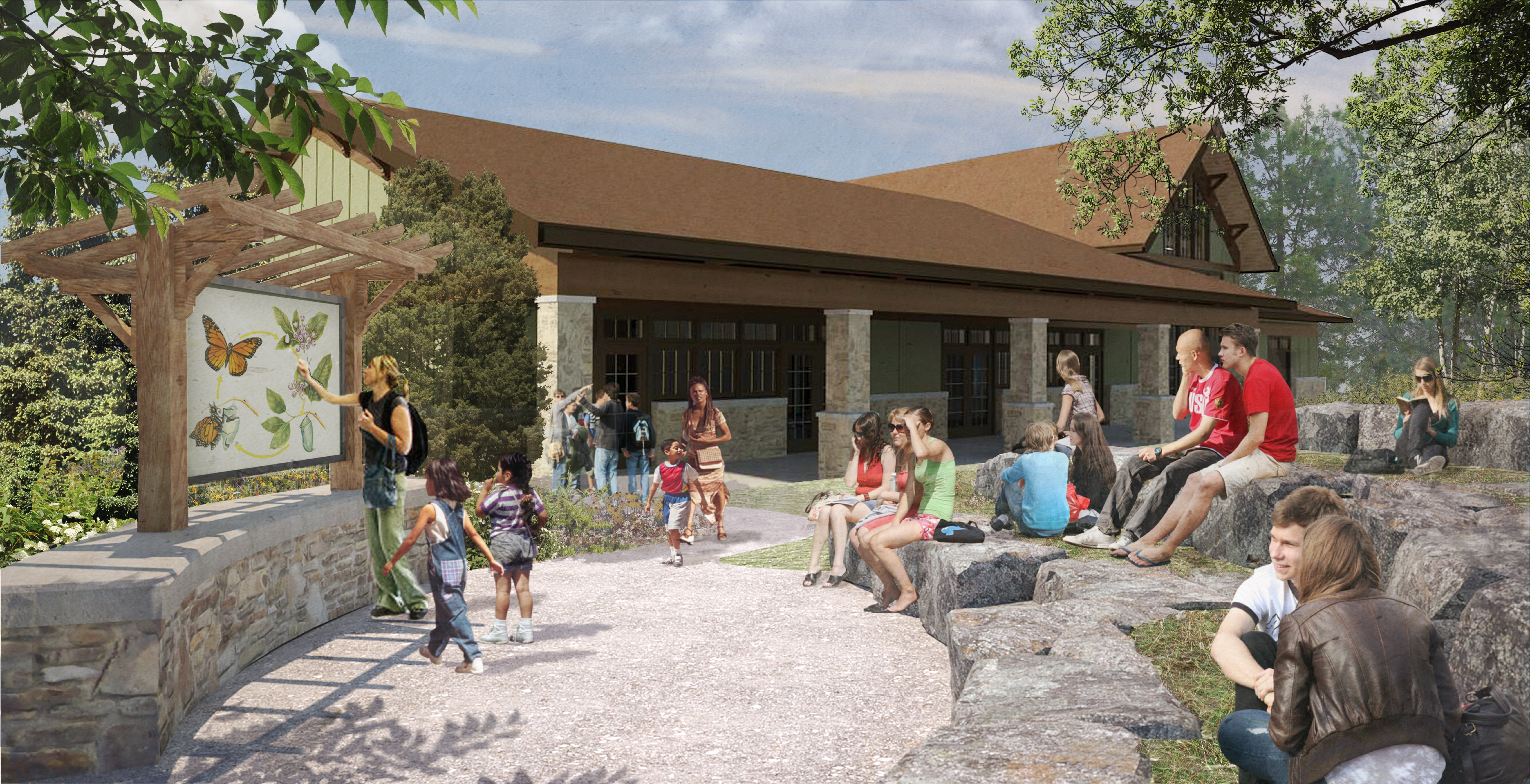 Rendering shows planned $6.75 million  nature center.