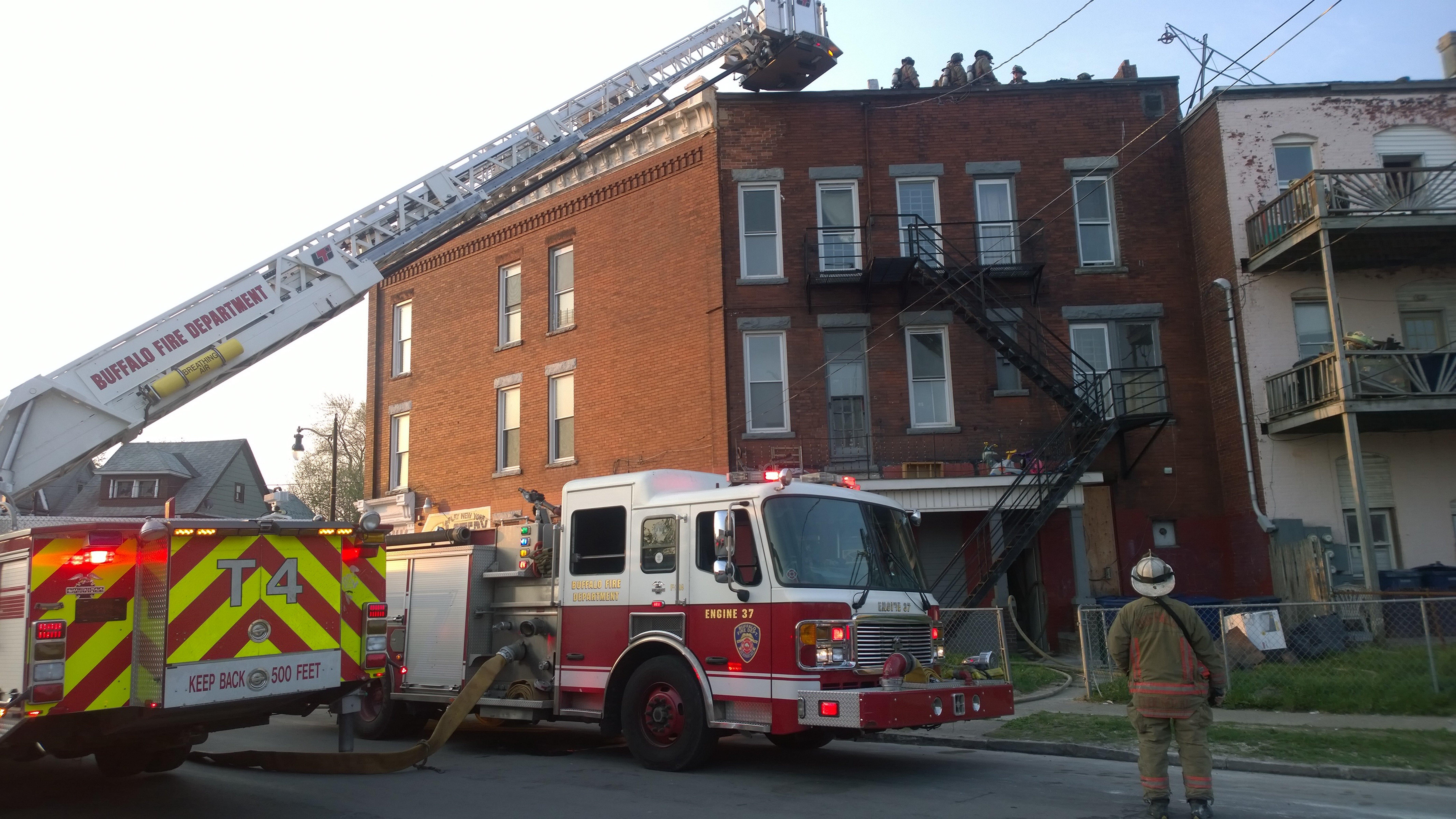 The scene at 318 Hampshire St. on Saturday morning. (David F.Kazmierczak)