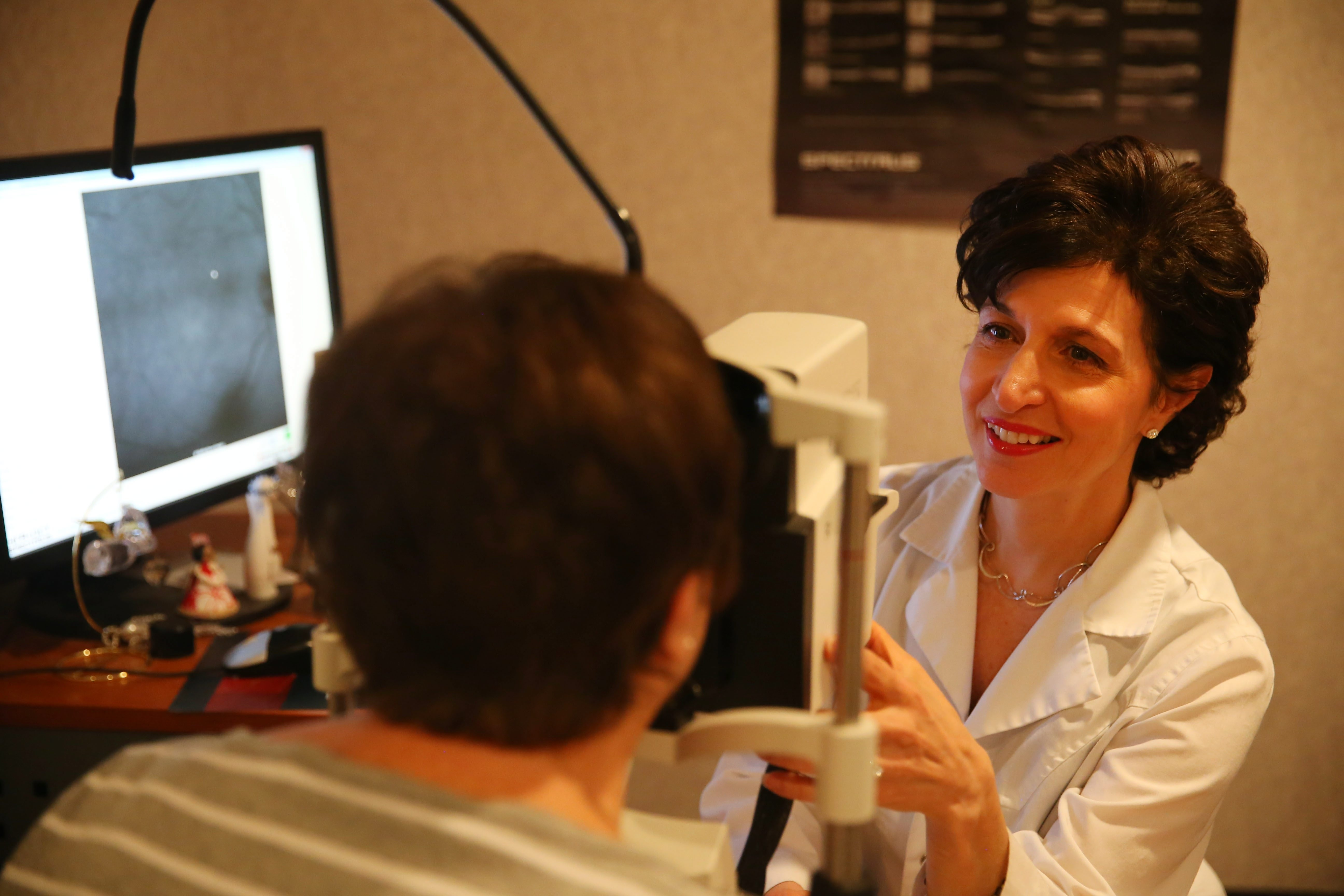 """""""As people age, regular eye exams are important because they help catch diseases as early as possible, when they're in the most treatable stages."""" – Dr. Saralyn Notaro Rietz, an ophthalmologist whose practice, Back of the Eye MD, specializes in retinal disease"""