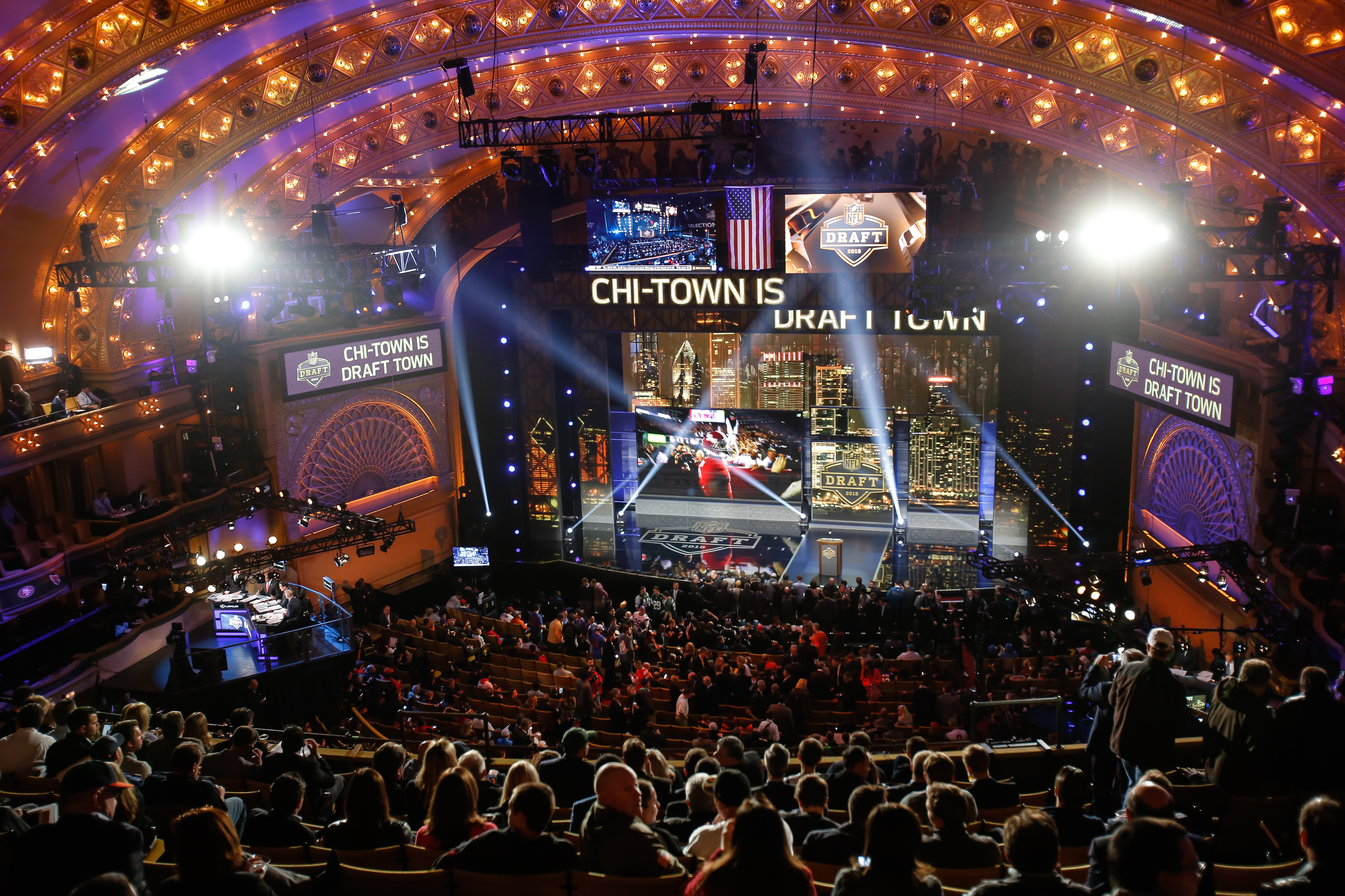 The NFL Draft kicks off in Chicago Thursday night; it is Chicago's second straight year as host. (Getty Images)