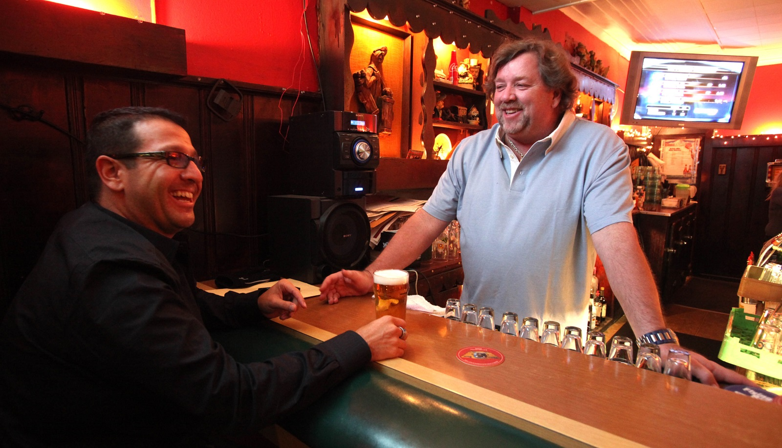 The Place owner Kenny Moriarity Sr. was always more than willing to chat with customers. The Lexington Avenue restaurant-bar had a strong core of regulars, plus loads of seasonal visitors. (Robert Kirkham/Buffalo News file photo)
