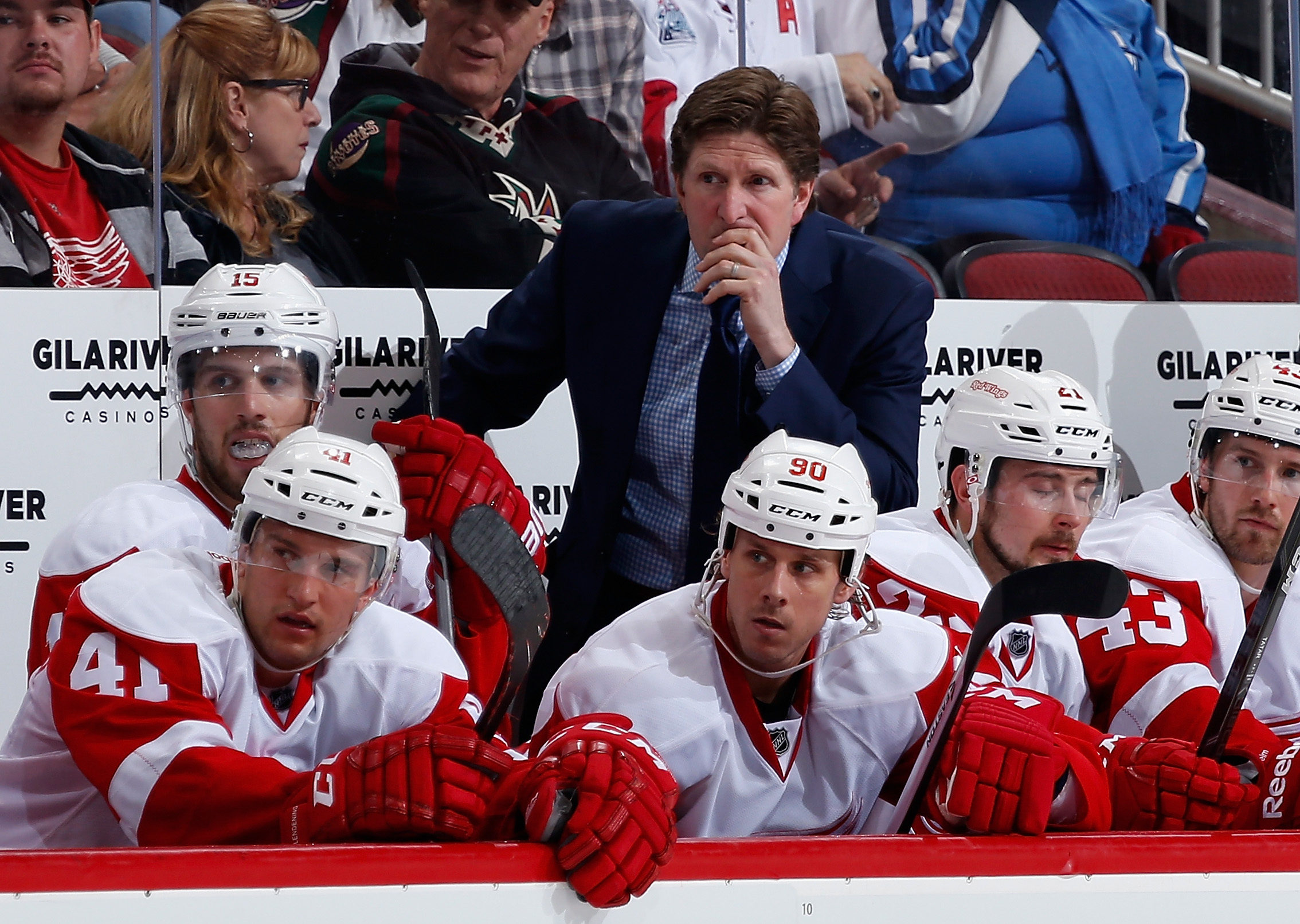 If the Sabres are serious about turning around the ship, columnist Bucky Gleason says they need to get Red Wings coach Mike Babcock aboard with an offer he can't turn down (Getty Images).