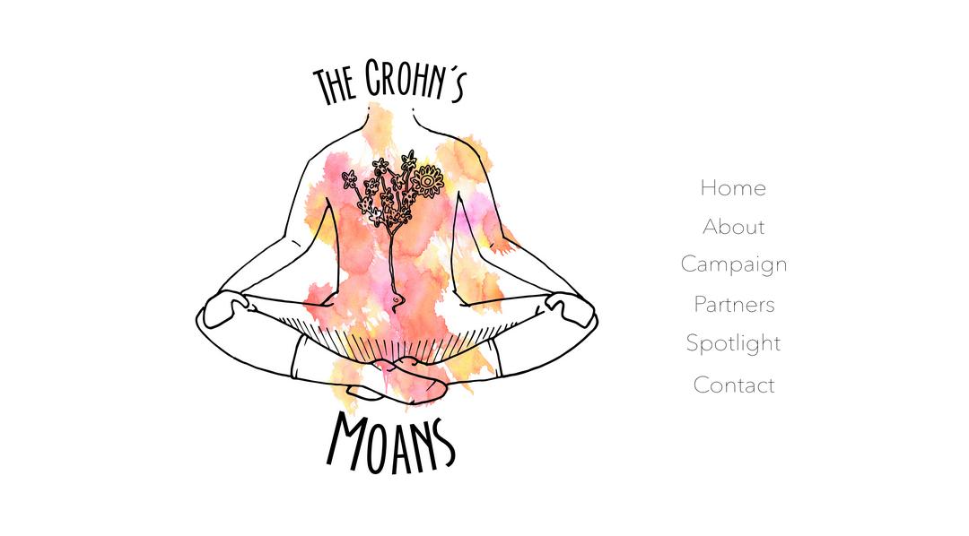 A screen grab from Ivana Bosek's website, the Crohn's Moans.