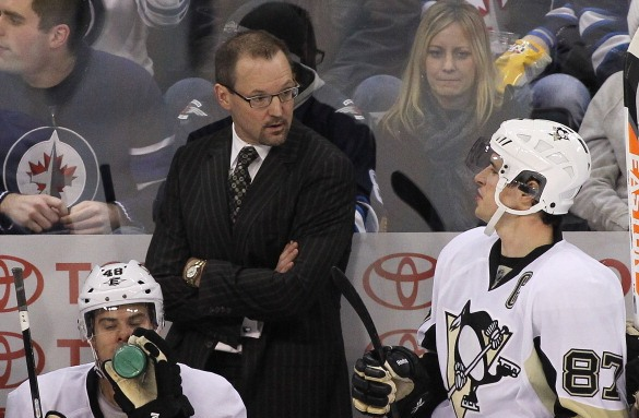 Head coach Dan Bylsma says he learned a great deal working with and observing Sidney Crosby that he can pass on to the Sabres' top prospects. (Getty Images)