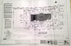 Revised site plans for the hotel to be considered tonight by the town Planning Board. Click to enlarge.