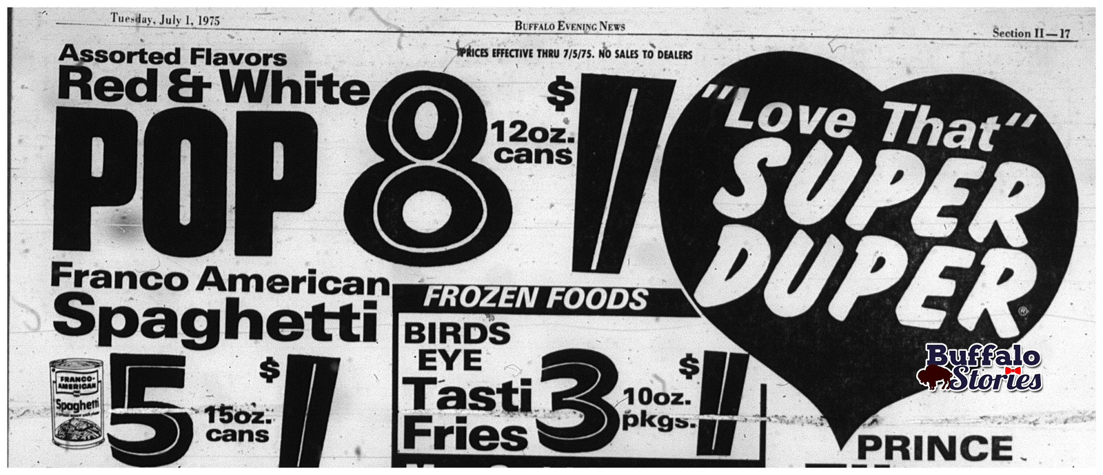 July 4, 1975: What beverages were on sale at Super Duper and