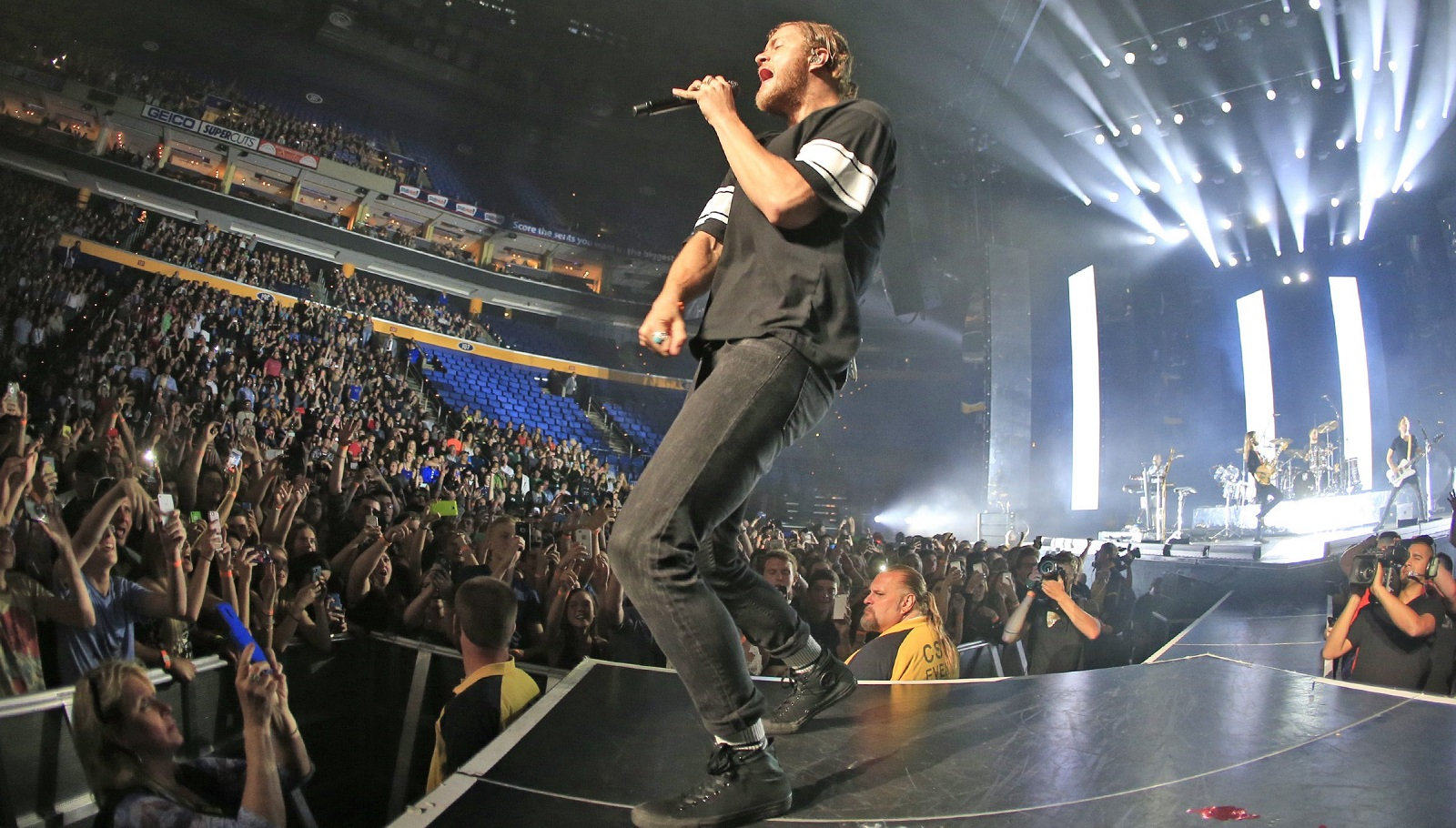 Imagine Dragons with lead vocalist Dan Reynolds played Buffalo in 2015 at the then-First Niagara Center. (Harry Scull Jr./Buffalo News file photo)