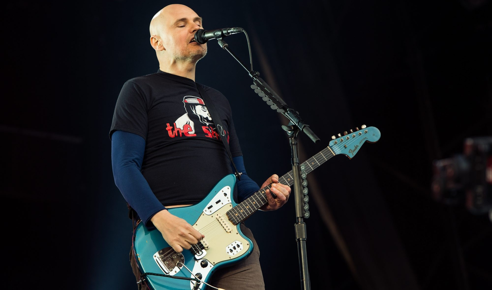 Billy Corgan and the Smashing Pumpkins will play an acoustic show in the Riviera Theatre. (Getty Images)