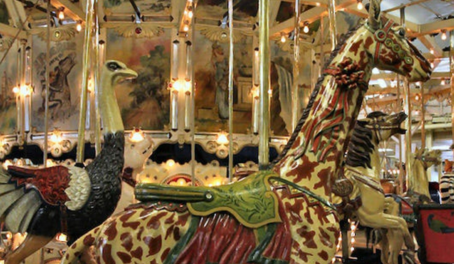 Top, Trimper's Ride in Ocean City, Md., is one of nine Herschell-Spillman park-style menagerie carousels in the U.S. Buffalo could soon have the tenth, including the original rose horse, above.