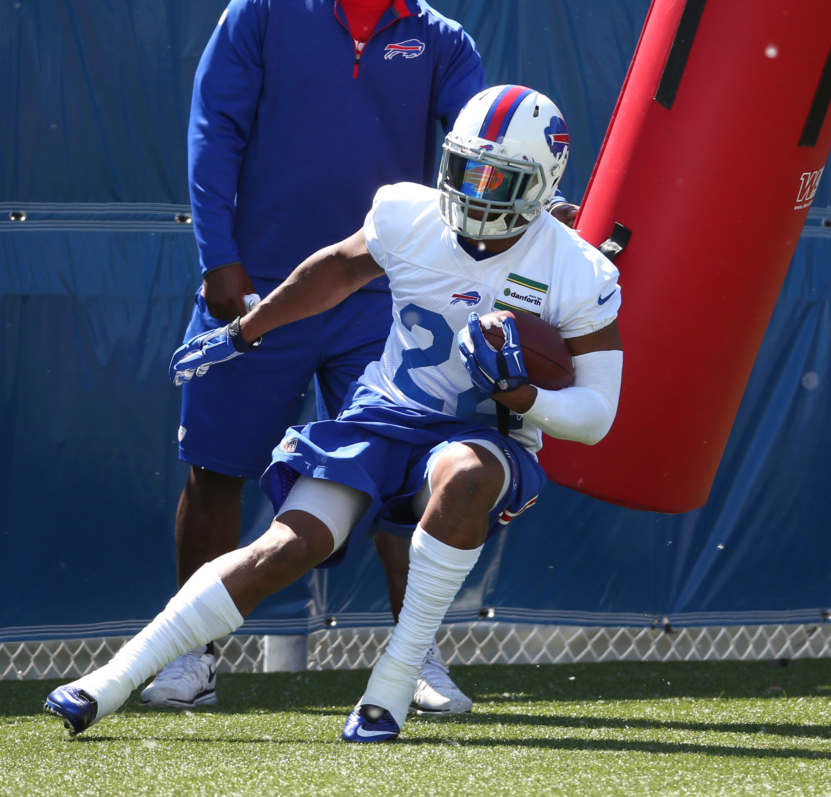 Buffalo Bills running back Fred Jackson has been his usual steady self during OTA practices this spring.