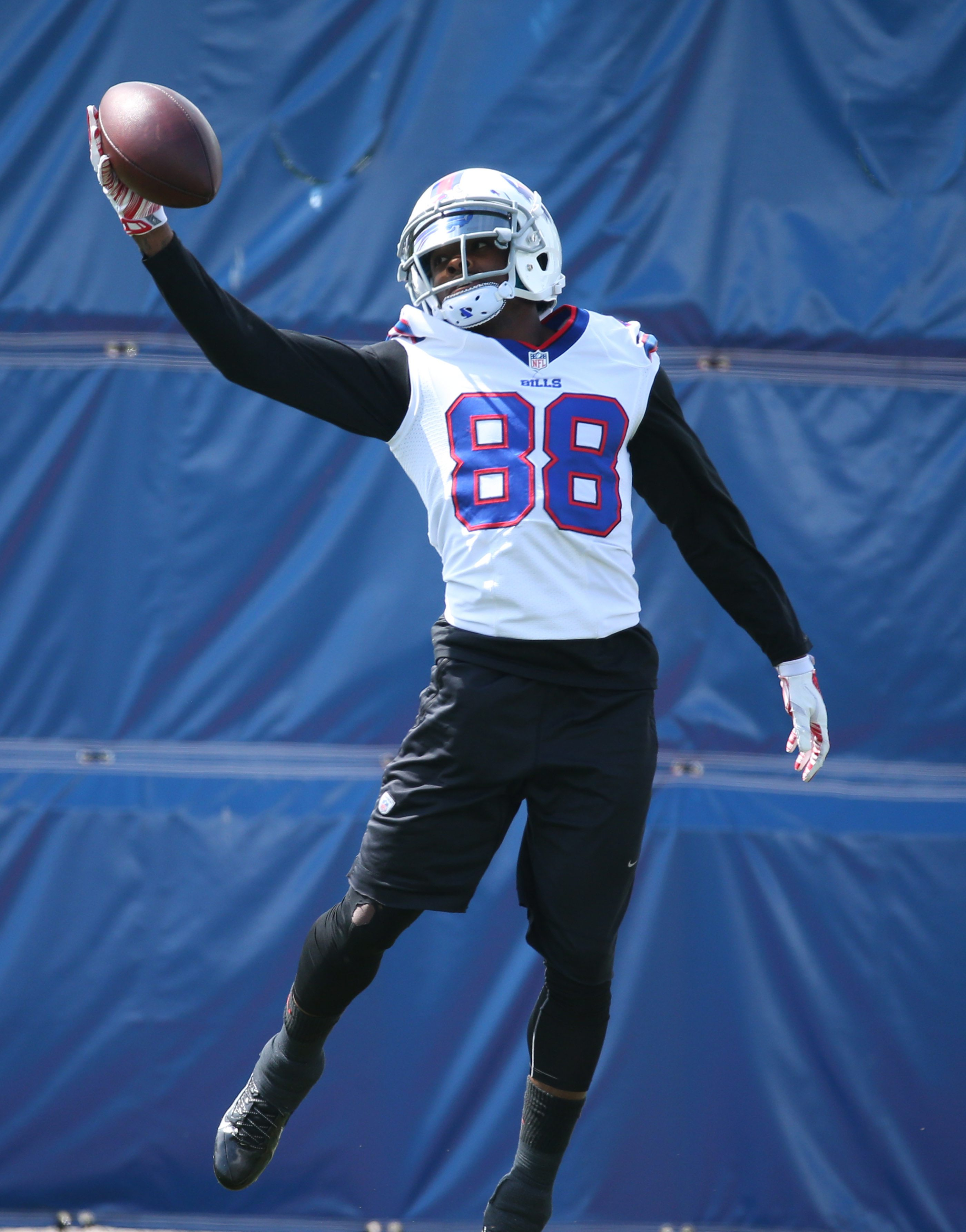 Buffalo Bills wide receiver Marquise Goodwin (88) catches a pass during the second day of Bills mini camp at ADPRO Sports Training Center in Orchard Park,NY on Wednesday, June 17, 2015.  (James P. McCoy/ Buffalo News)