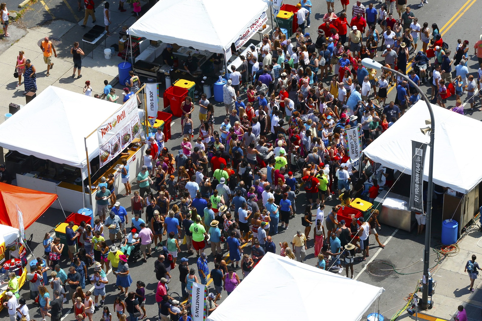 The Taste of Buffalo draws legions of food lovers to stands on Delaware Avenue each summer. (Robert Kirkham/News file photo)
