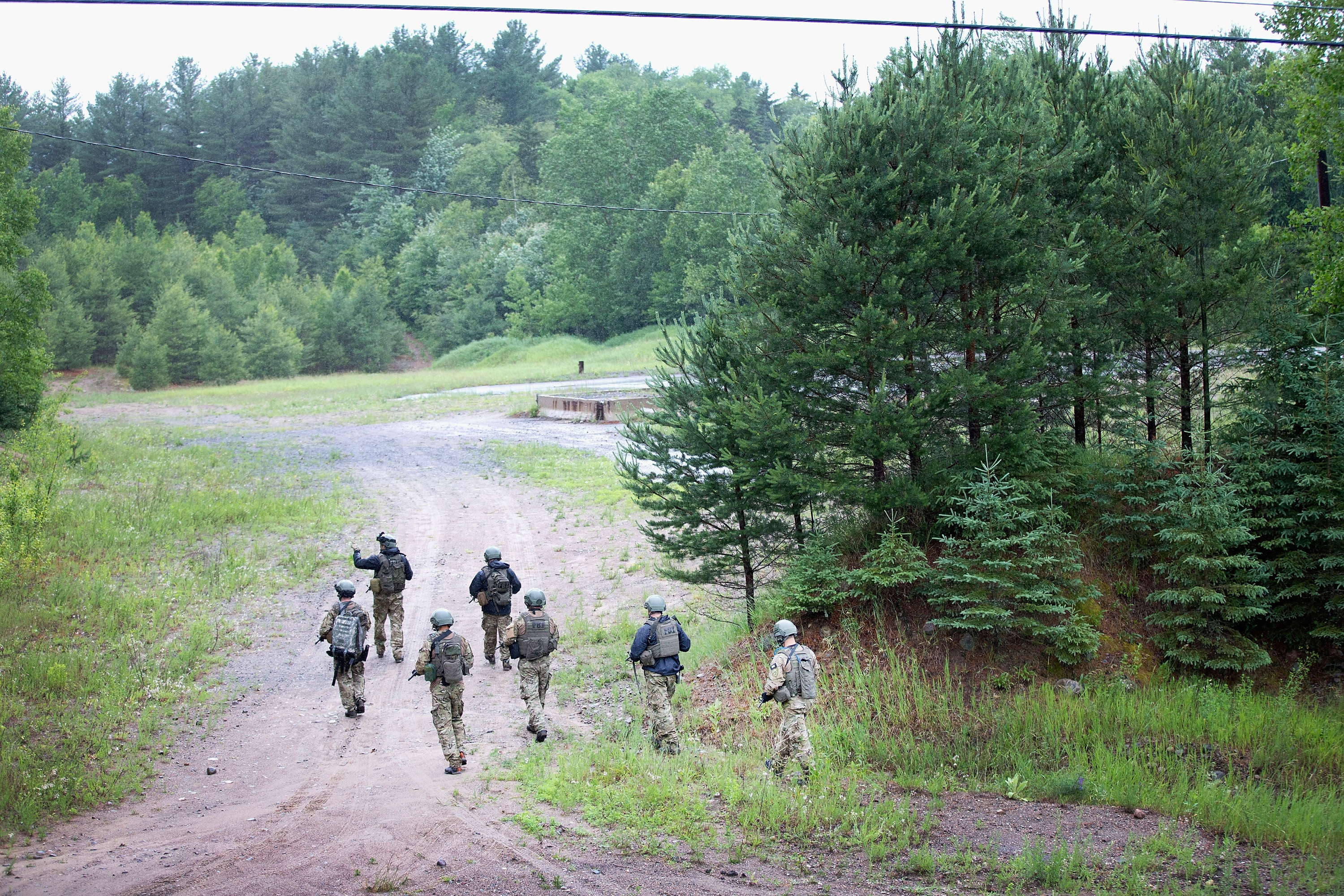 FBI agents conduct a search for convicted murderer  David Sweat on June 28, 2015 near Duane. On Friday Richard Matt, who escaped with Sweat, was shot and killed in the same area. (Getty Images)