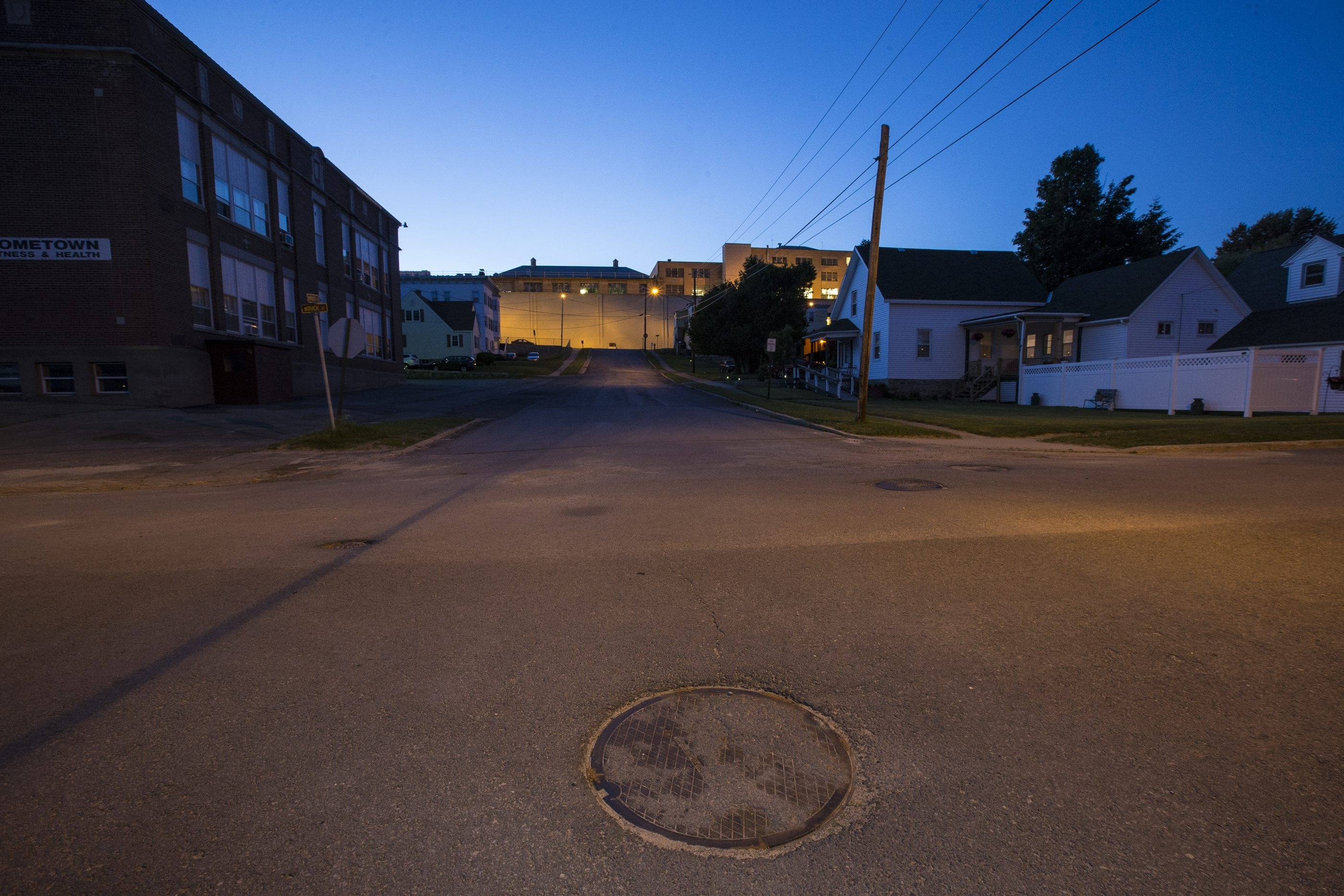 A manhole at the intersection of Bouck and Barker streets in Dannemora allowed Richard Matt and David Sweat a way out of Clinton Correctional Facility. The two overcame incredible odds to escape, eluding authorities for three weeks in the Adirondacks until Matt's discovery and consequent death on Friday.