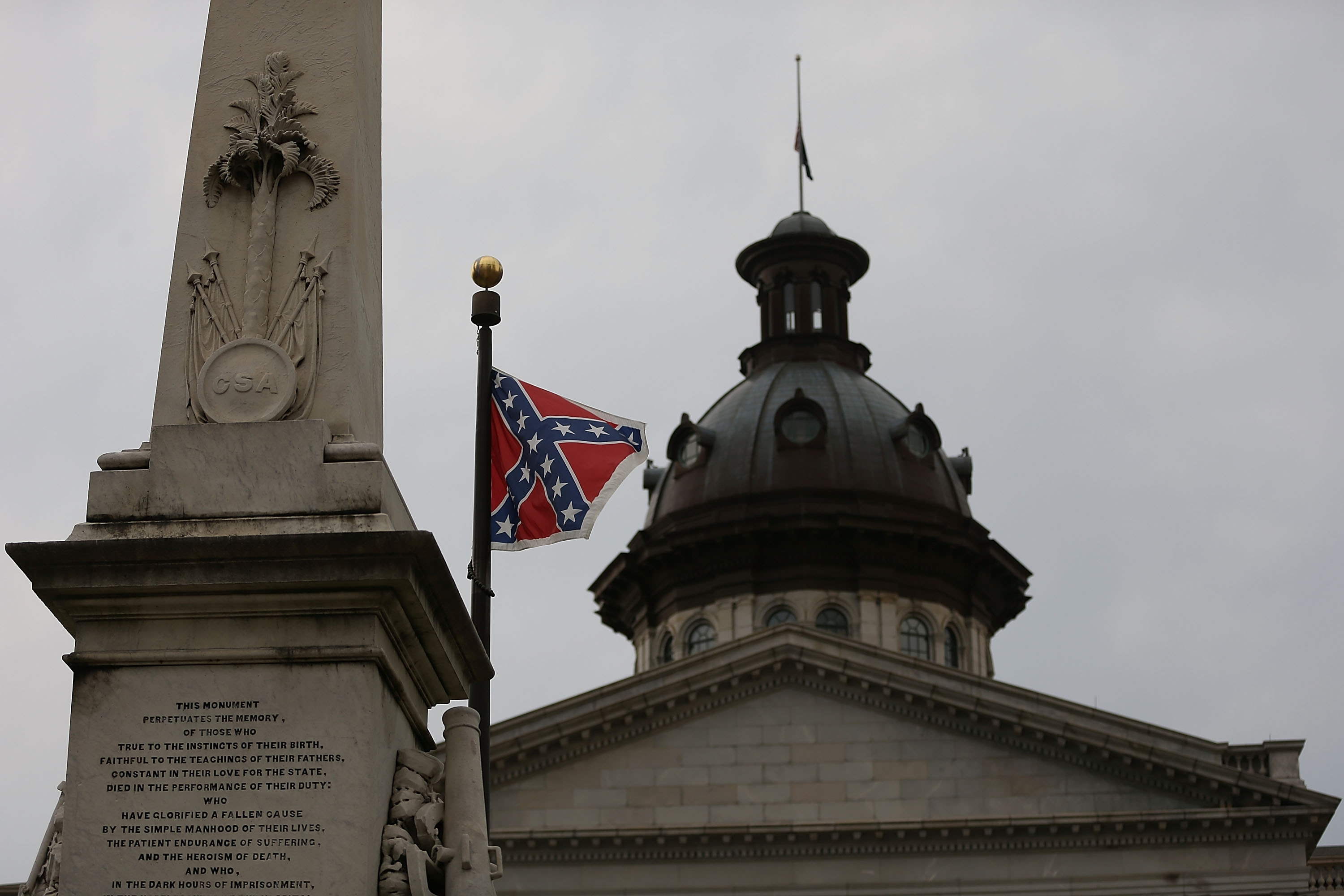 The Confederate battle flag flying at South Carolina's Statehouse is an unacceptable show of  defiance.