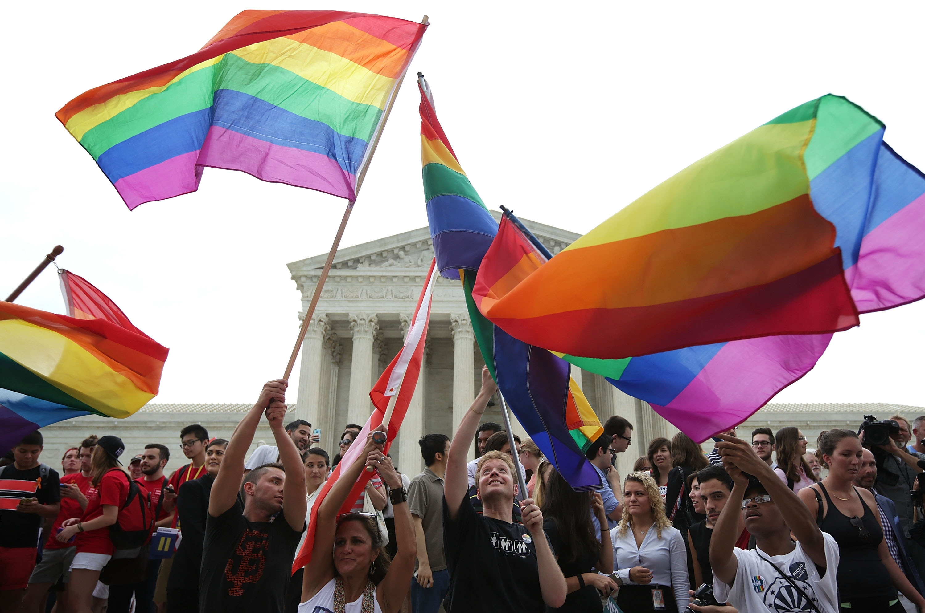 Same-sex marriage supporters rejoice Friday after the U.S Supreme Court handed down a ruling in favor of same-sex marriage. The high court ruled that same-sex couples have the right to marry in all 50 states.