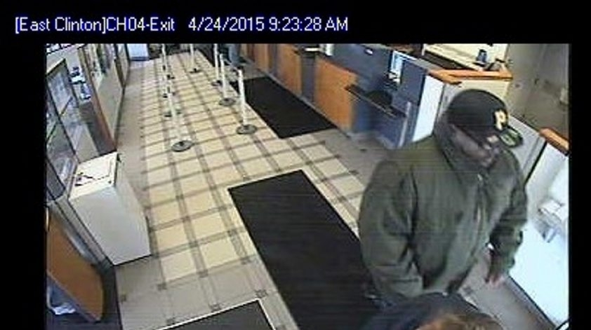 April 24, 2014, robbery of First Niagara on Clinton Street.