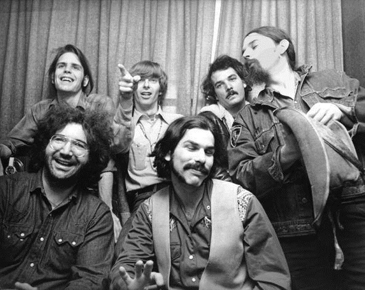 "Founding Grateful Dead member Bill Kreutzmann (second from right, top row) has written his memoir, ""Deal: My Three Decades of Drumming, Dreams and Drugs with the Grateful Dead."""