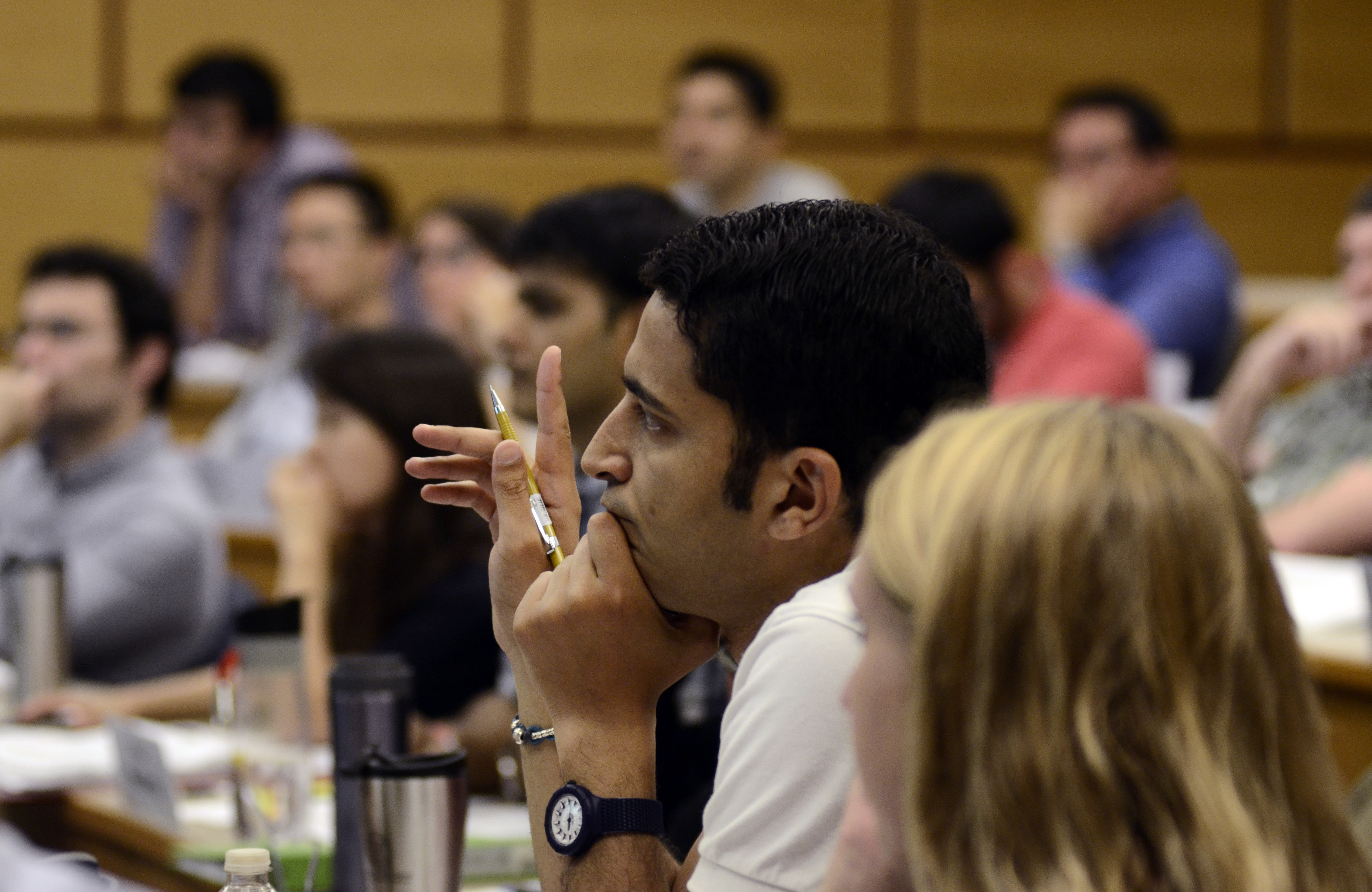 Students participate in a class as part of the one-year MBA program at Cornell University. One-year graduate business programs have become more popular with students in the United States, but sometimes their efforts go unrecognized by employers.