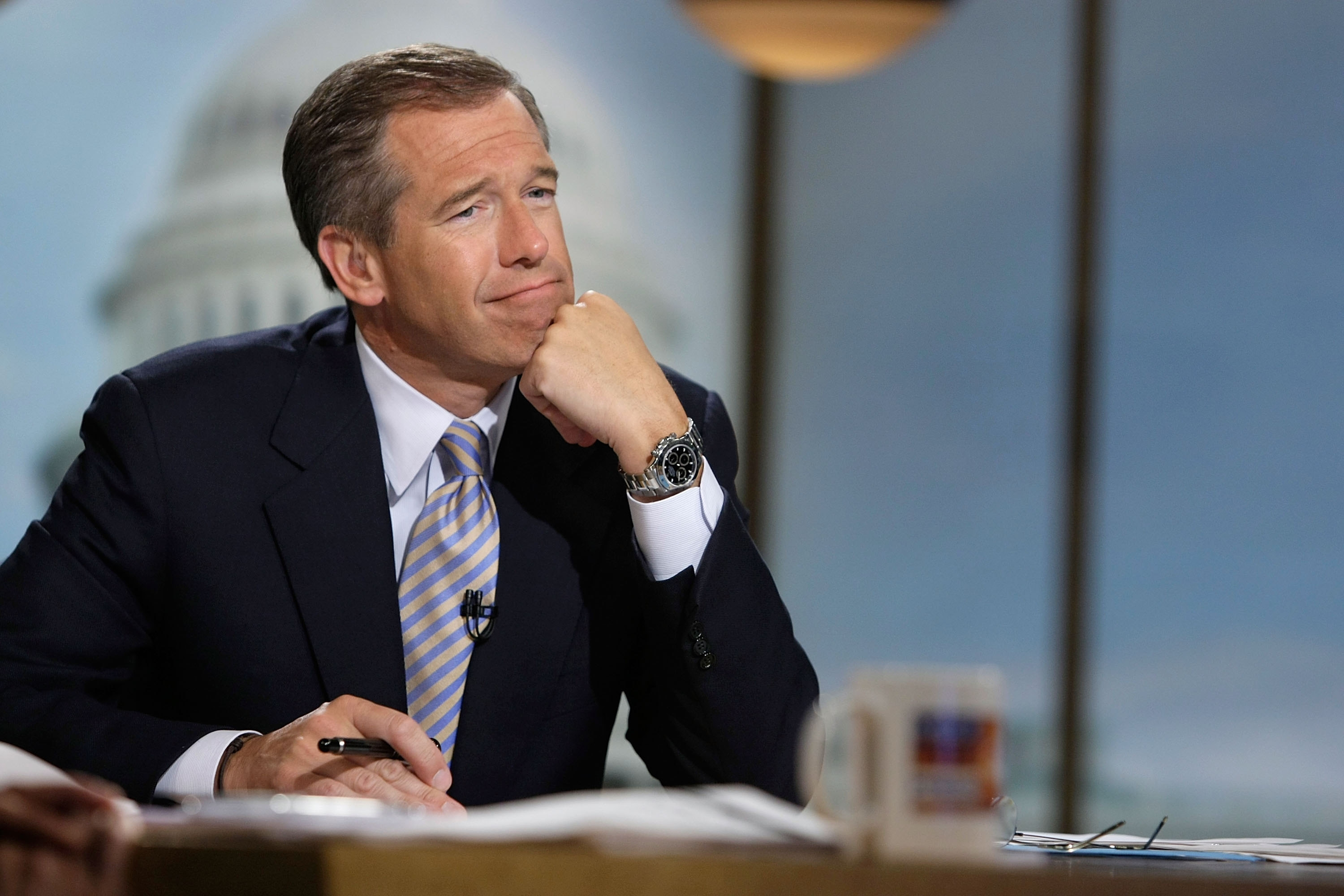 According to reports, Brian Williams will remain at NBC, but not as 'Nightly News' anchor. (Getty Images file photo)