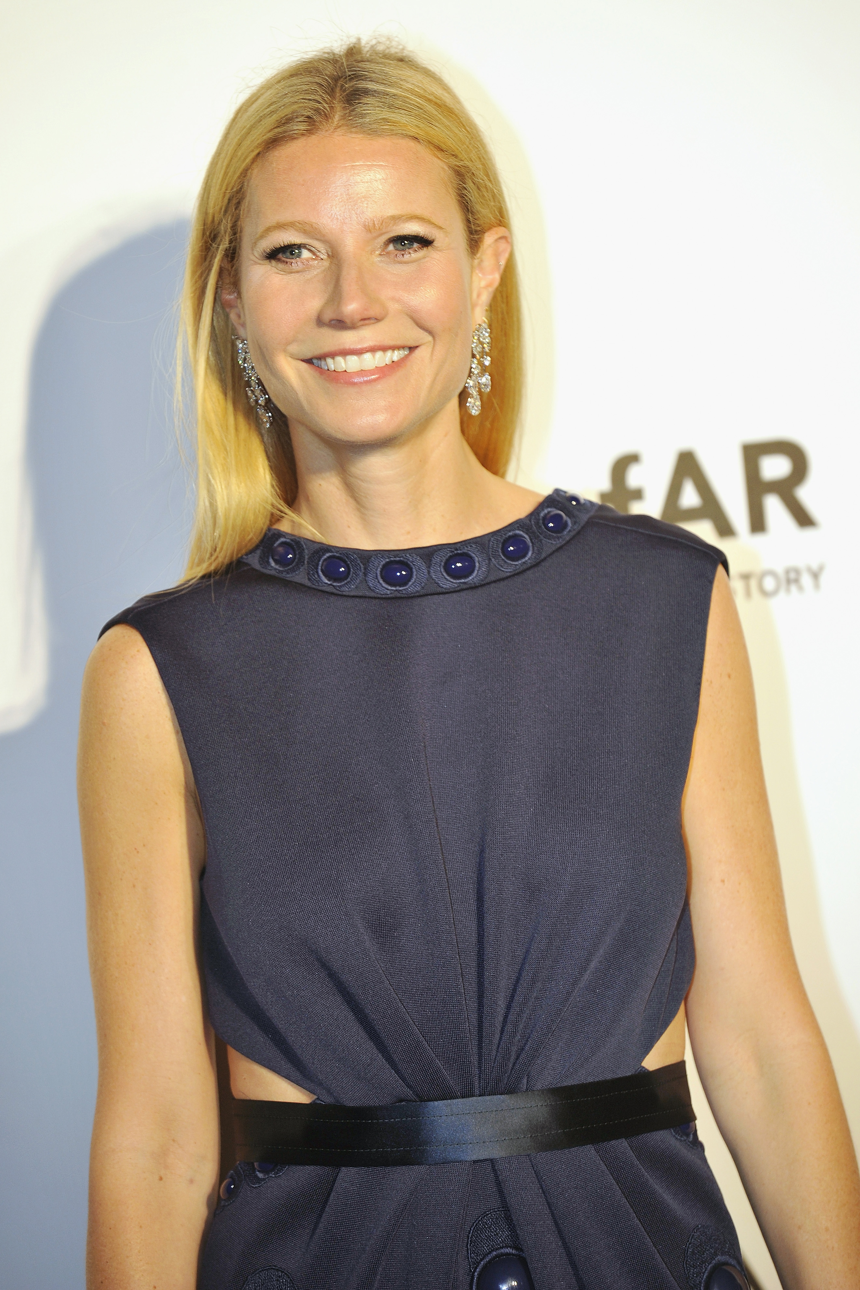 Gwyneth Paltrow arrives on the red carpet during the 2015 amfAR Hong Kong gala at Shaw Studios on March 14, 2015, in Hong Kong. (Lucas Schifres/Abaca Press/TNS)