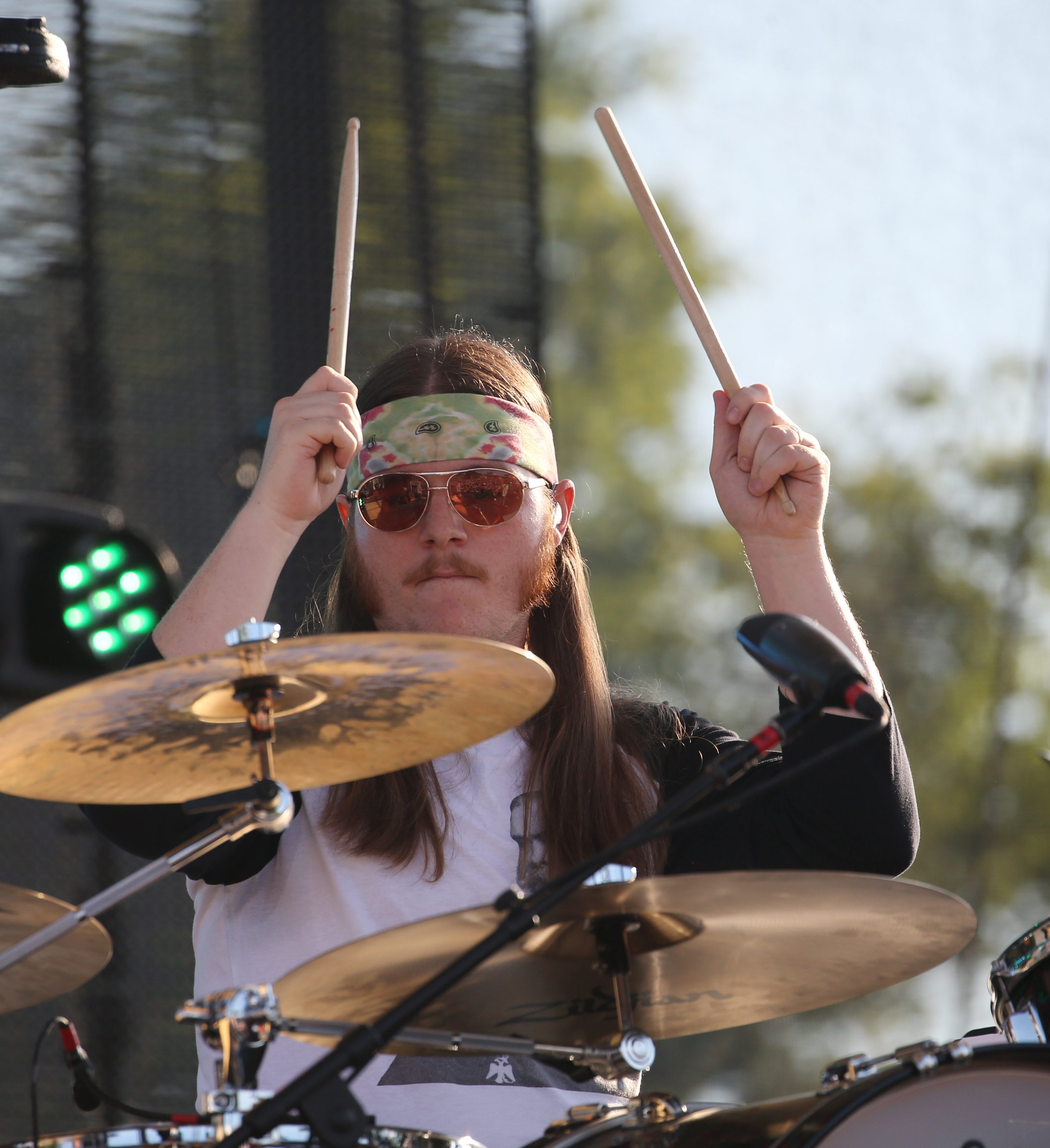 Duane Trucks performs on drums with jam band Widespread Panic as the Tuesdays at the Park concert series opened its 2015 season at Artpark in Lewiston. Photo gallery at buffalonews.com.